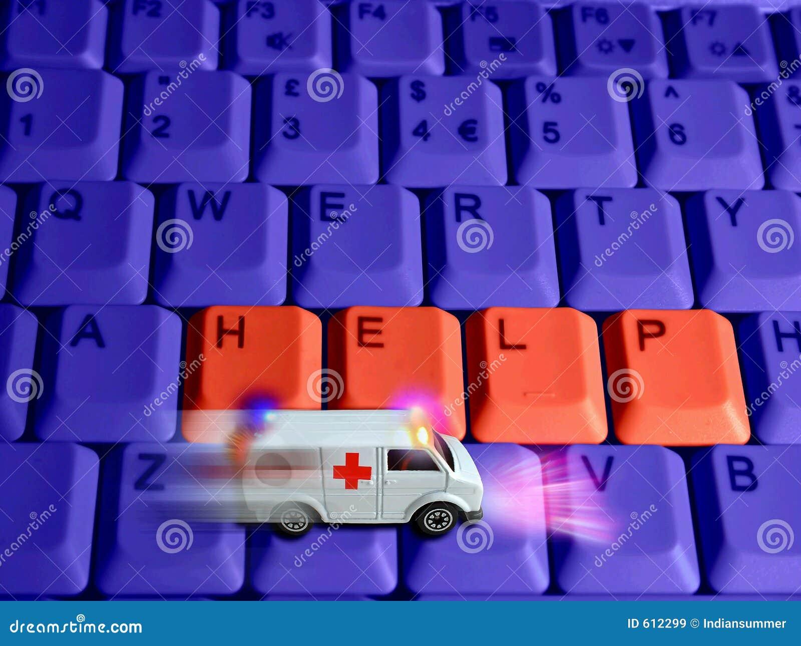 Het concept van de ziekenwagen - technologieëngezondheidszorg