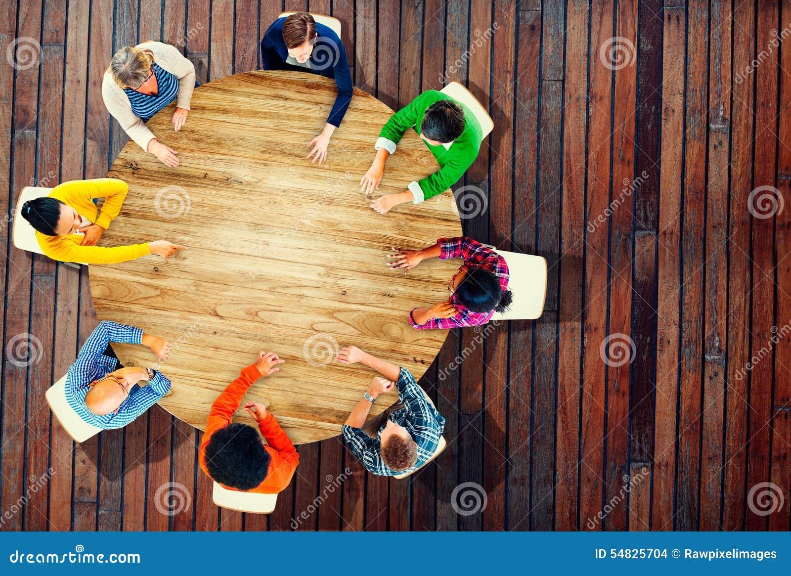 Het Concept van diversiteitsteam planning project meeting startegy