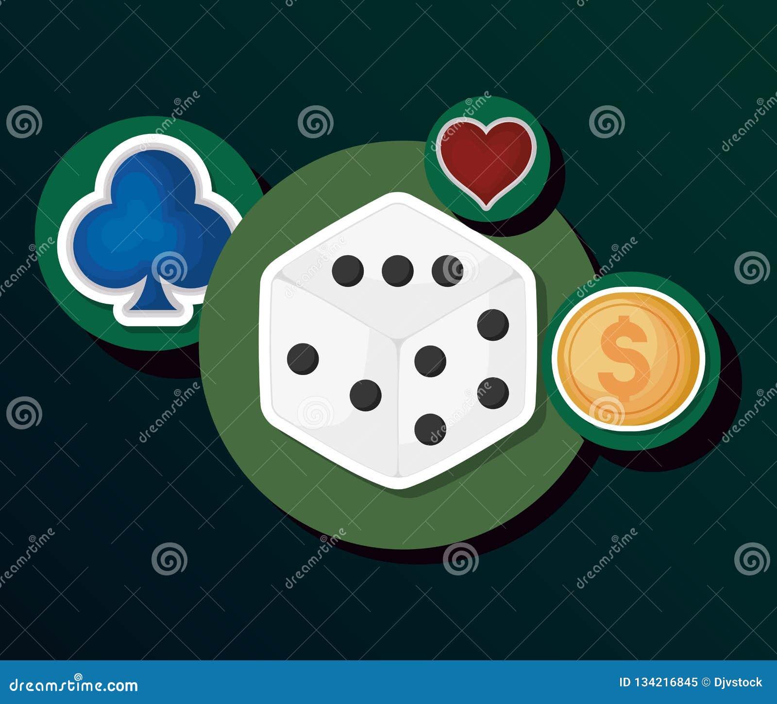 Het concept van het gokcasino