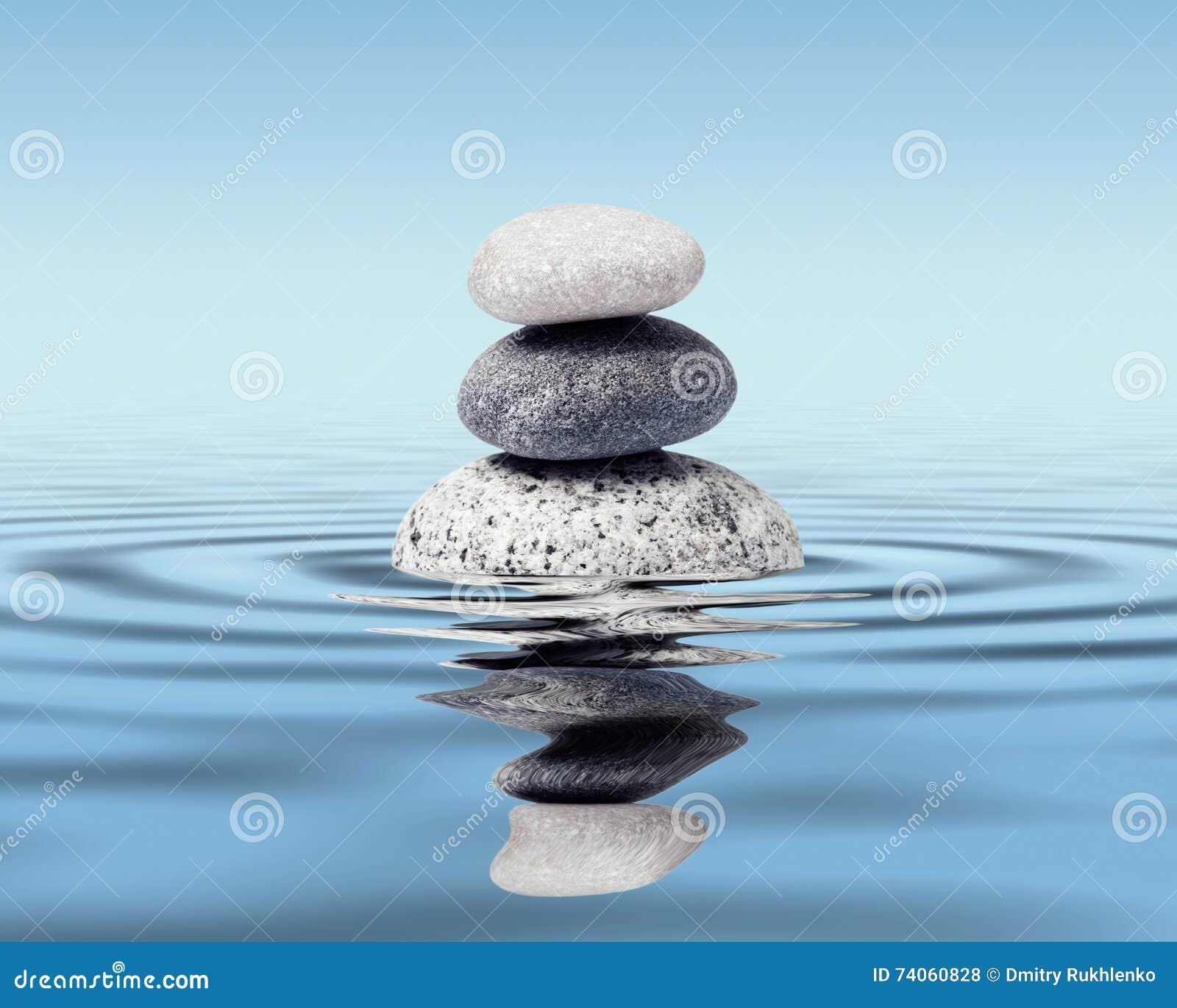 Het concept van het de stenensaldo van Zen