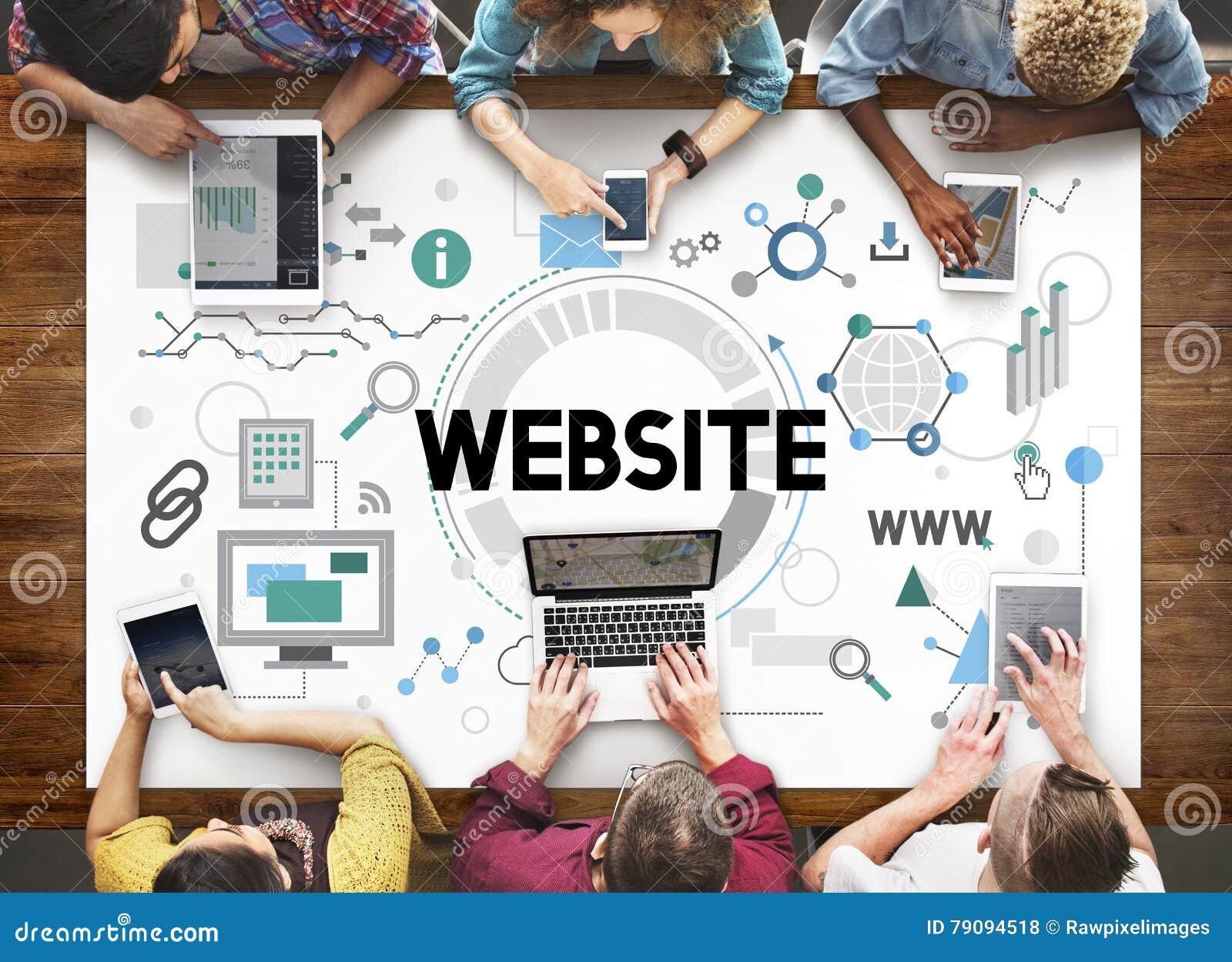 Het Concept van het de Technologienetwerk van websiteconnetion Internet