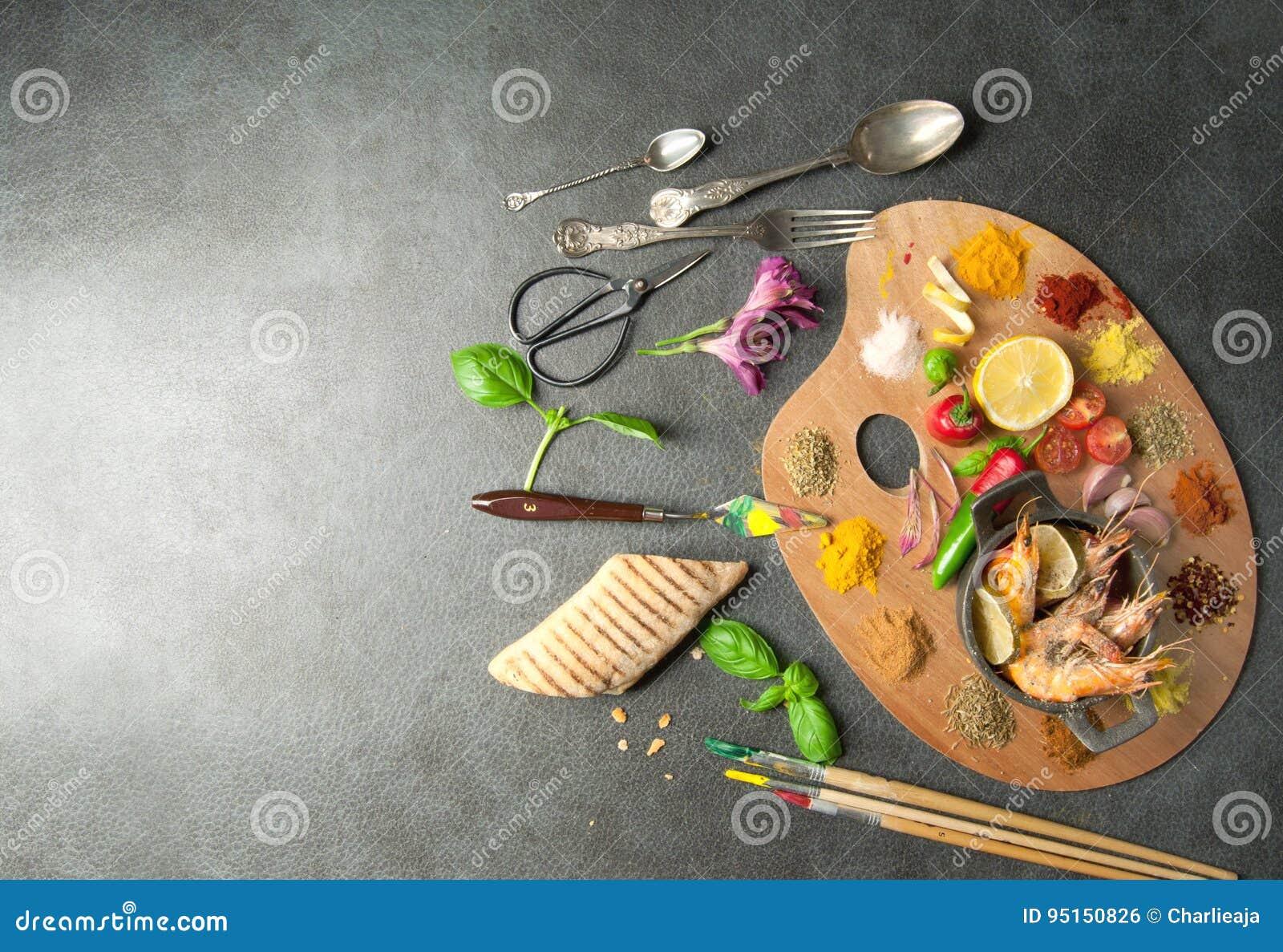 Het concept van het voedselpalet