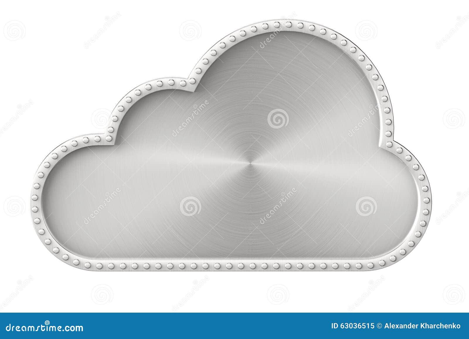 Het concept van Internet De wolk van het staal