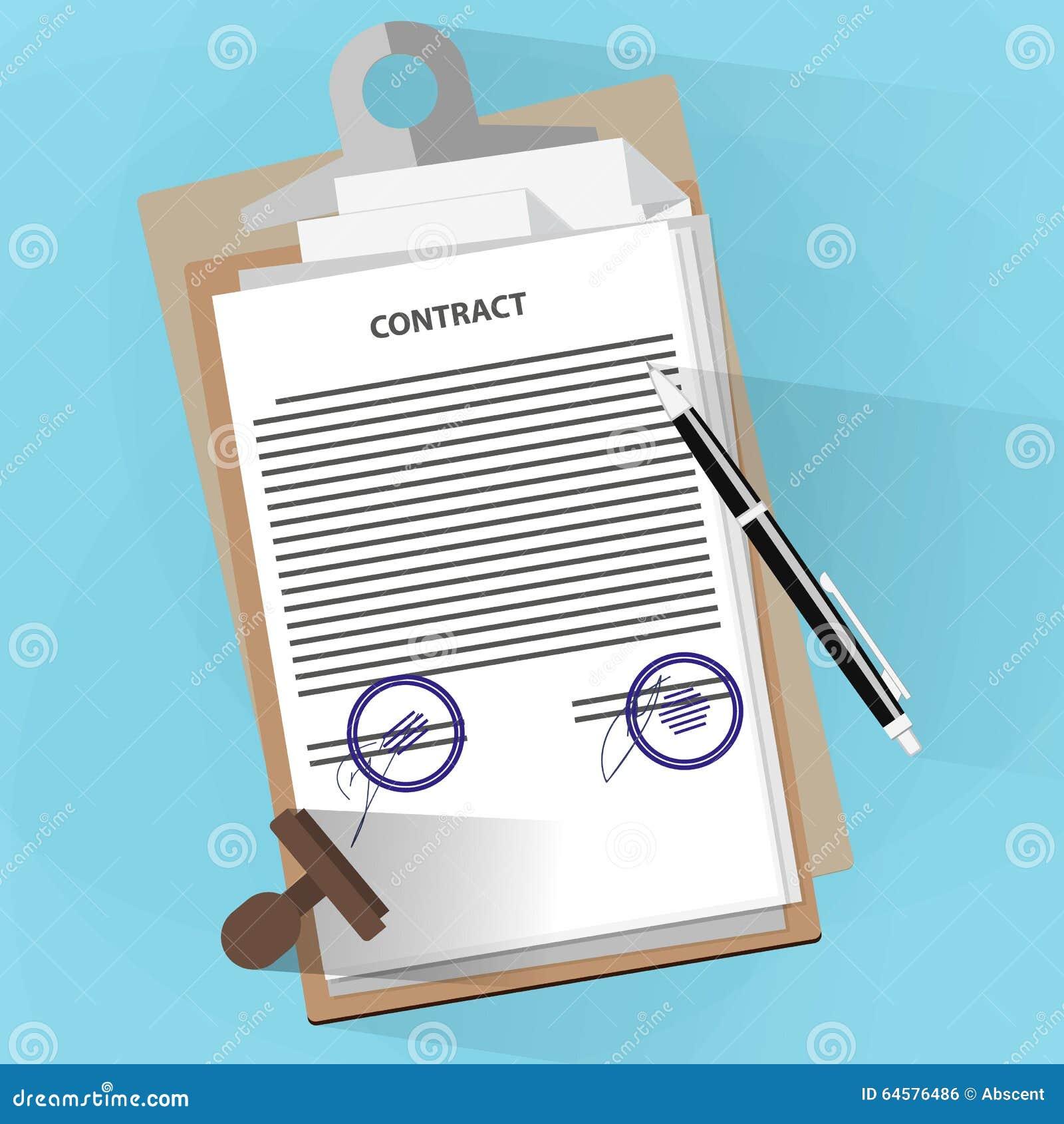 Het concept van overeenkomstendocumenten