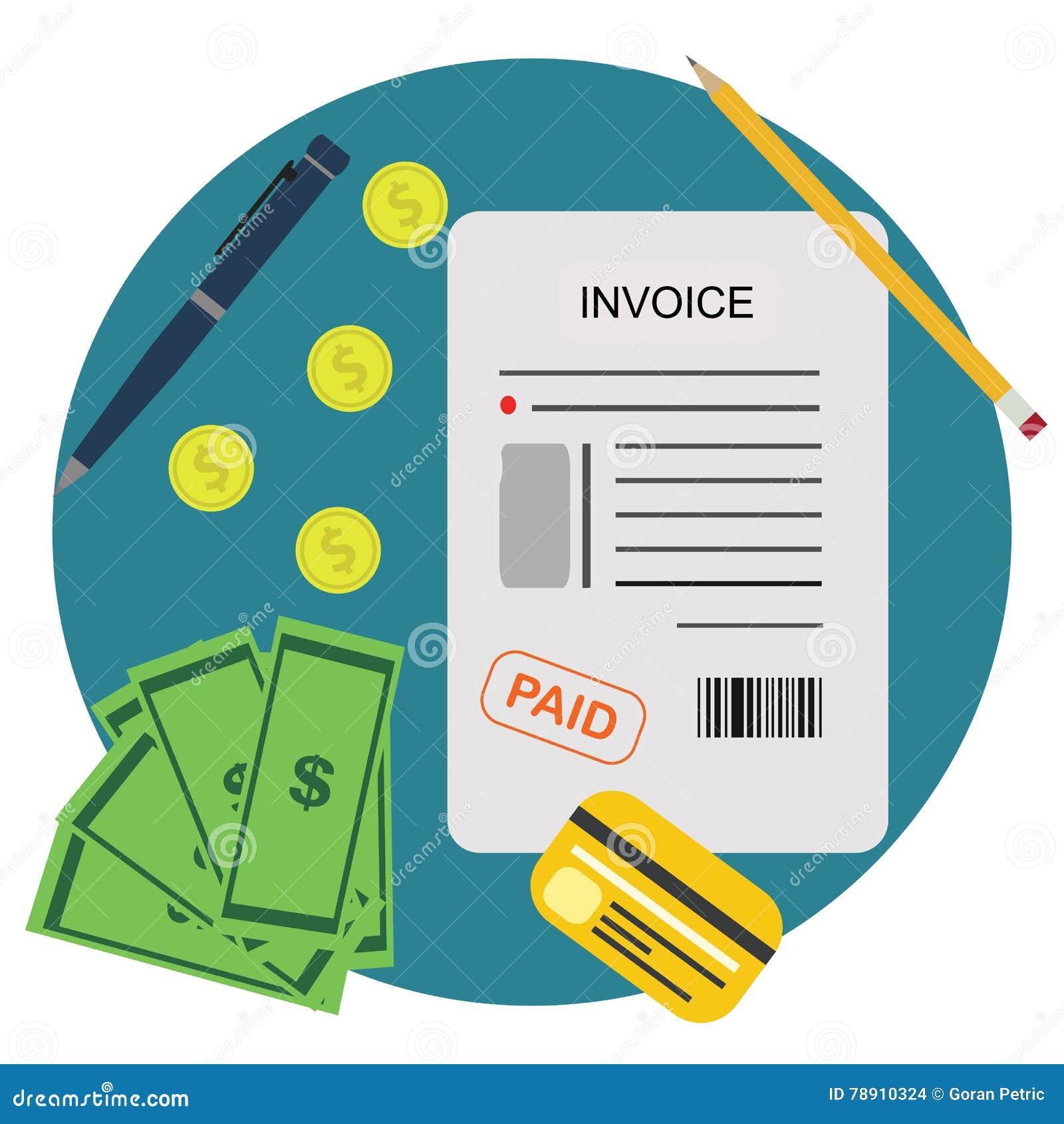 Het Concept van rekeningsbill paid payment financial account
