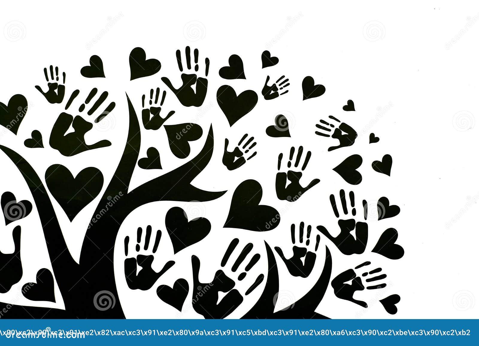 Het concept vrede, eenheid, vriendschap en liefde