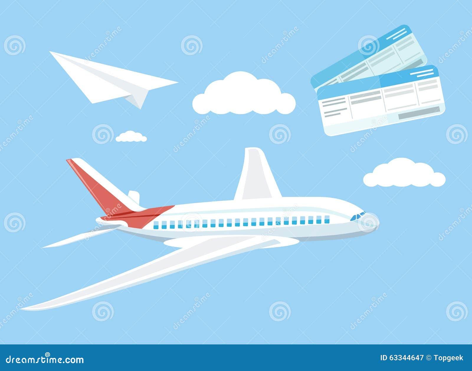 Het concepten vliegend vliegtuig van de luchtreis