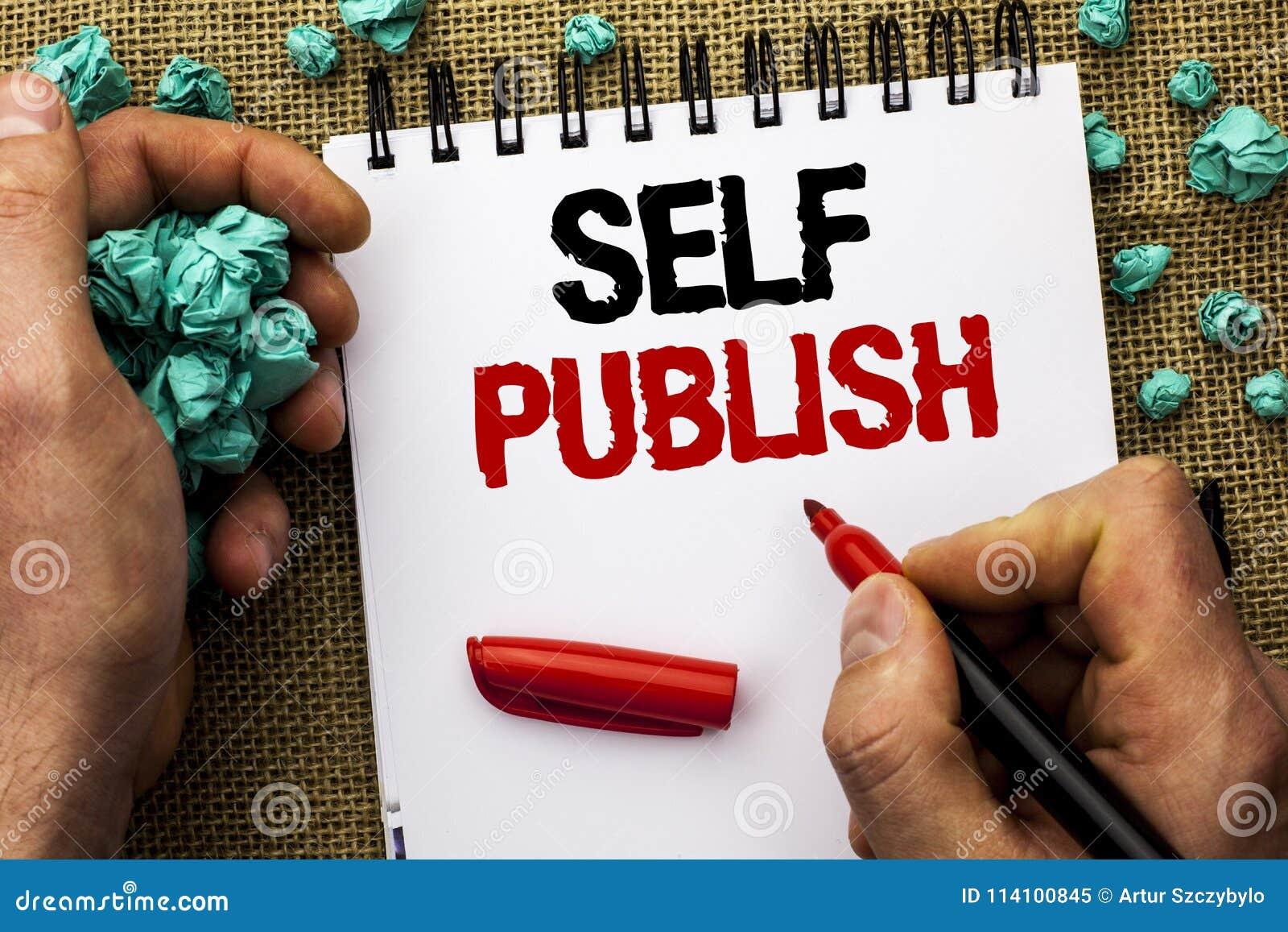 Het conceptuele hand het schrijven Zelf tonen publiceert De Publicatie van de bedrijfsfototekst schrijft langs geschreven het Art