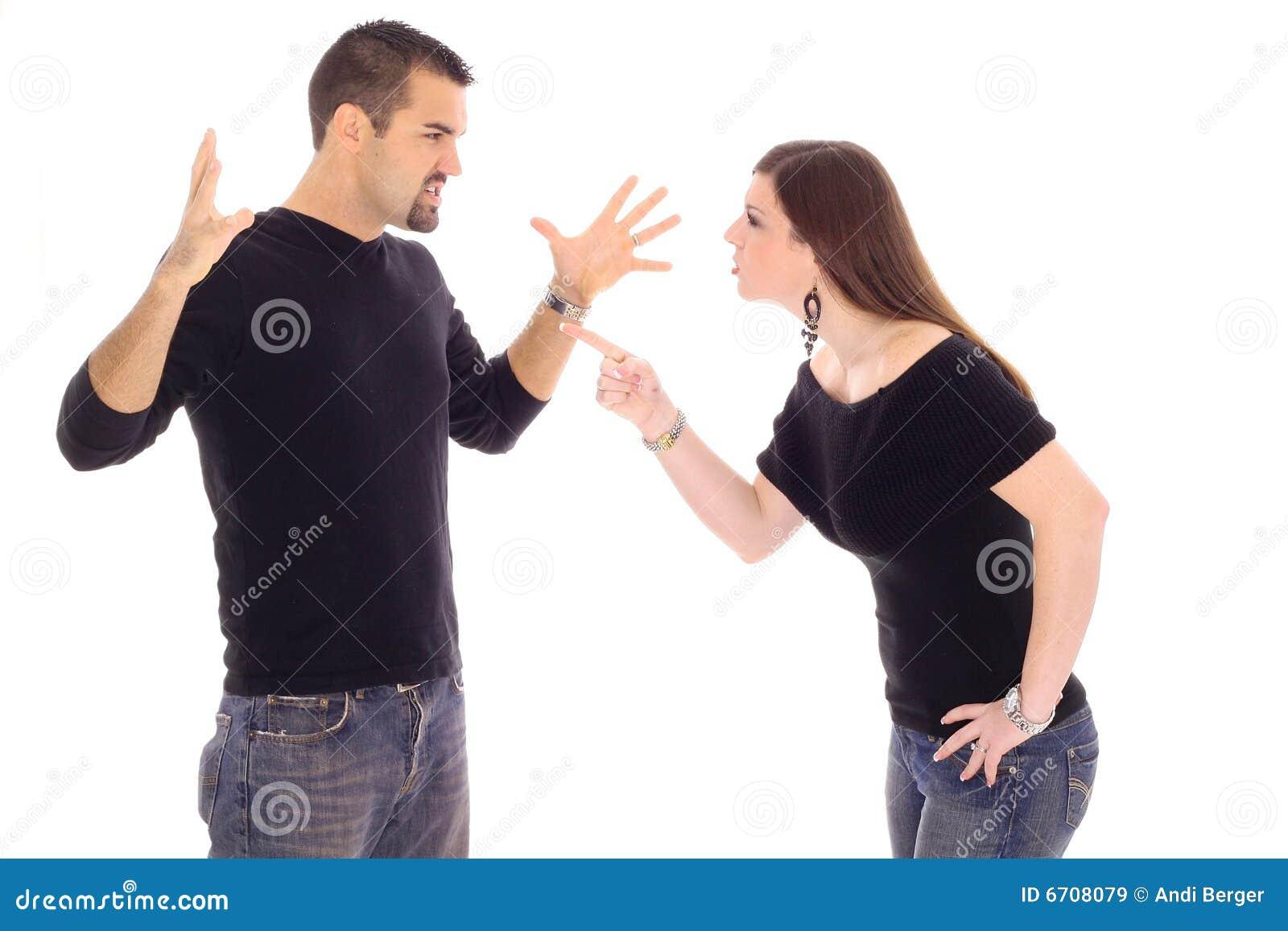 Het conflict van het paar
