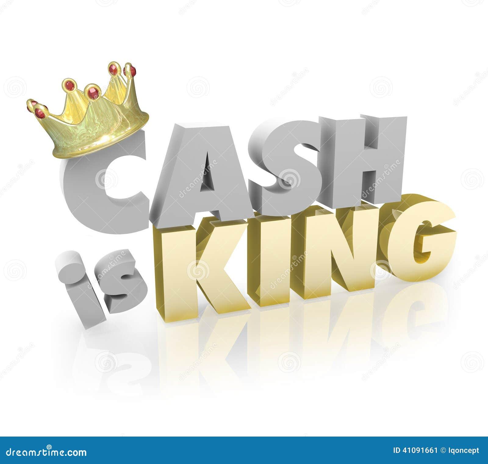 Het contante geld is het Krediet van Koningsshopping money vs koopt Machtsmunt