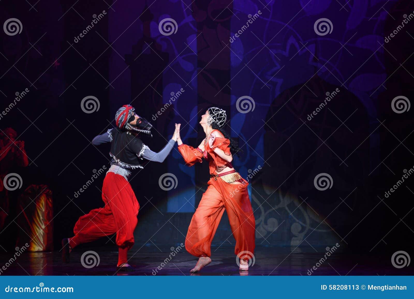 """Het courtship- van de piraat ballet """"One Duizend Één Nights†"""