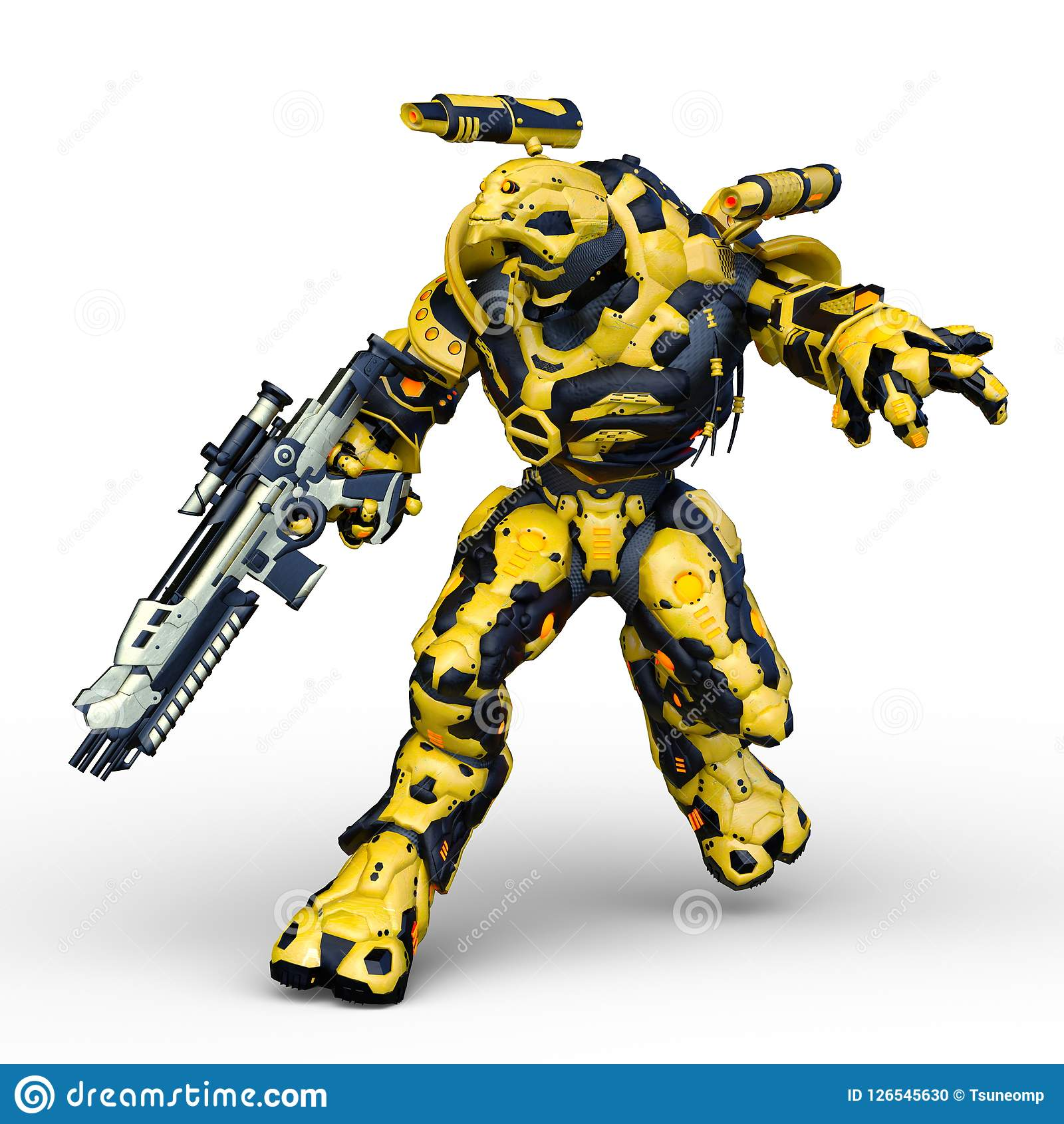 Het 3D CG-teruggeven van Humanoid