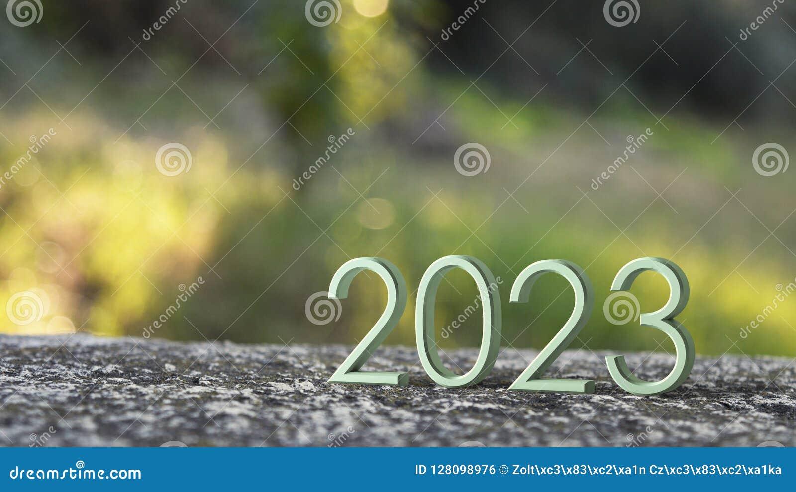 Het 3d teruggeven van 2023