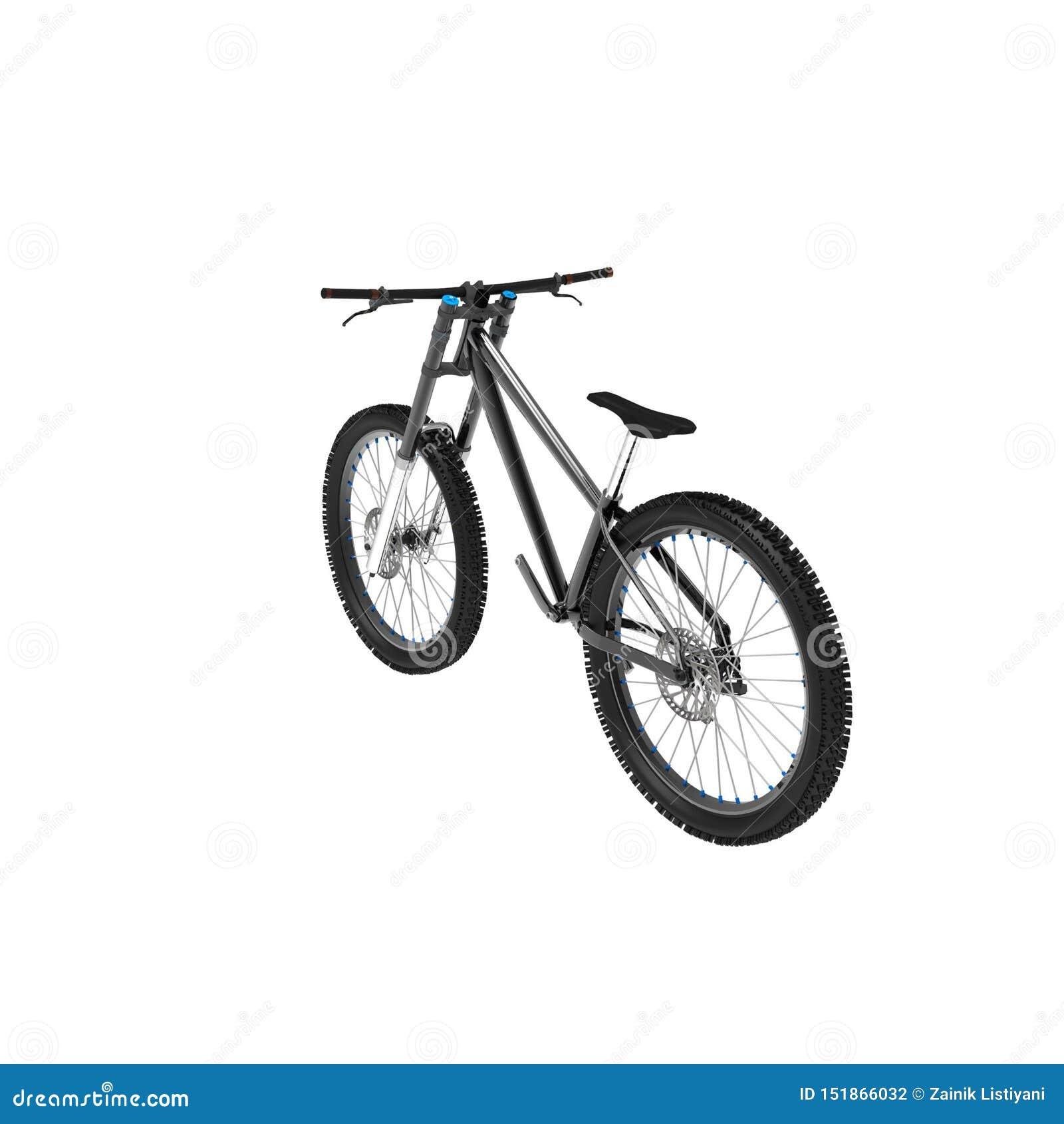 Het 3d teruggeven van een fiets op een geïsoleerde achtergrond