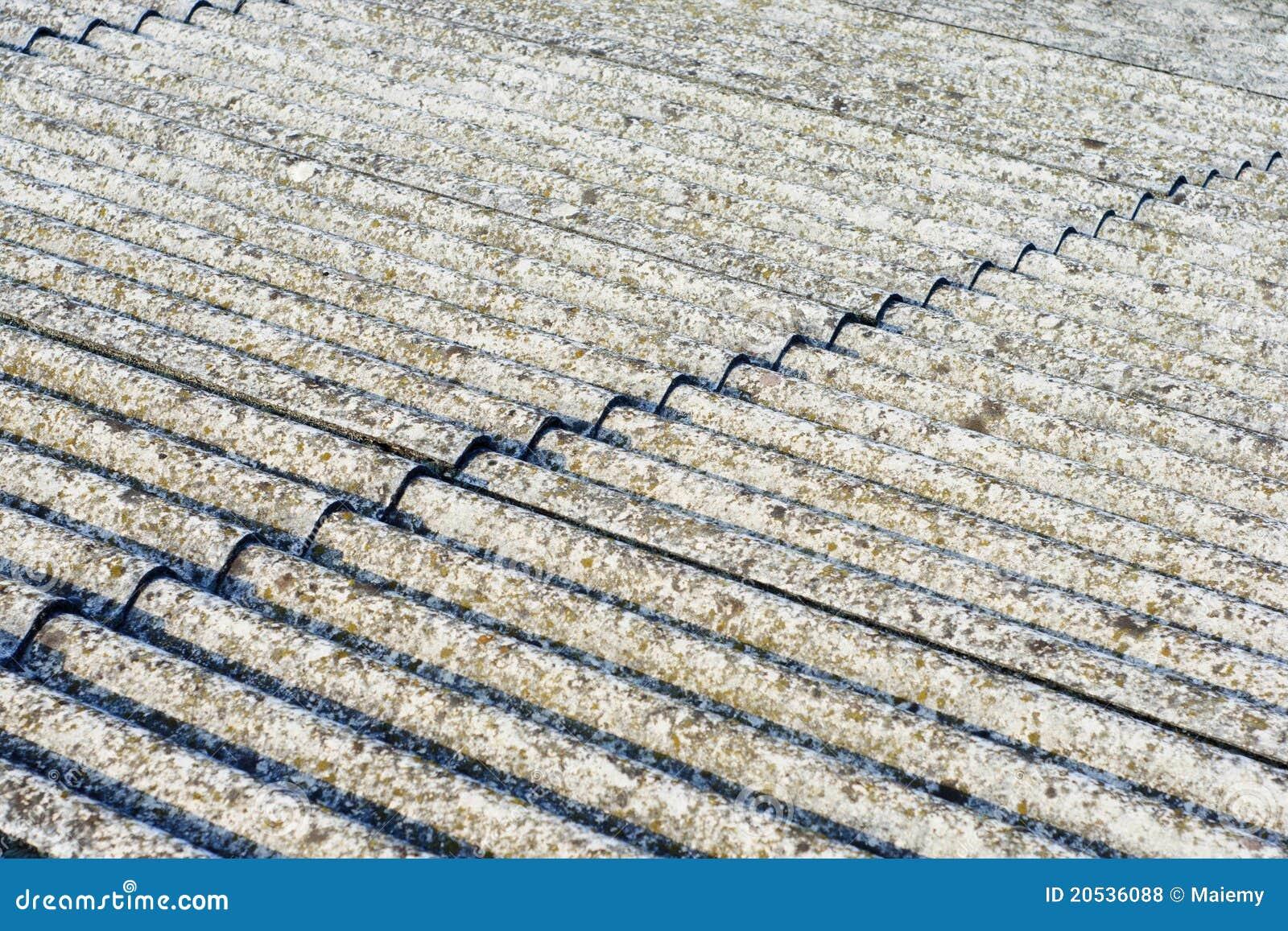 Het Dak Van Het Asbest Eternit Stock Foto Afbeelding Bestaande Uit