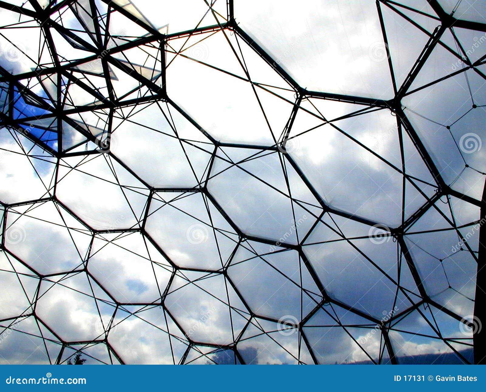 Het dak van het bioma