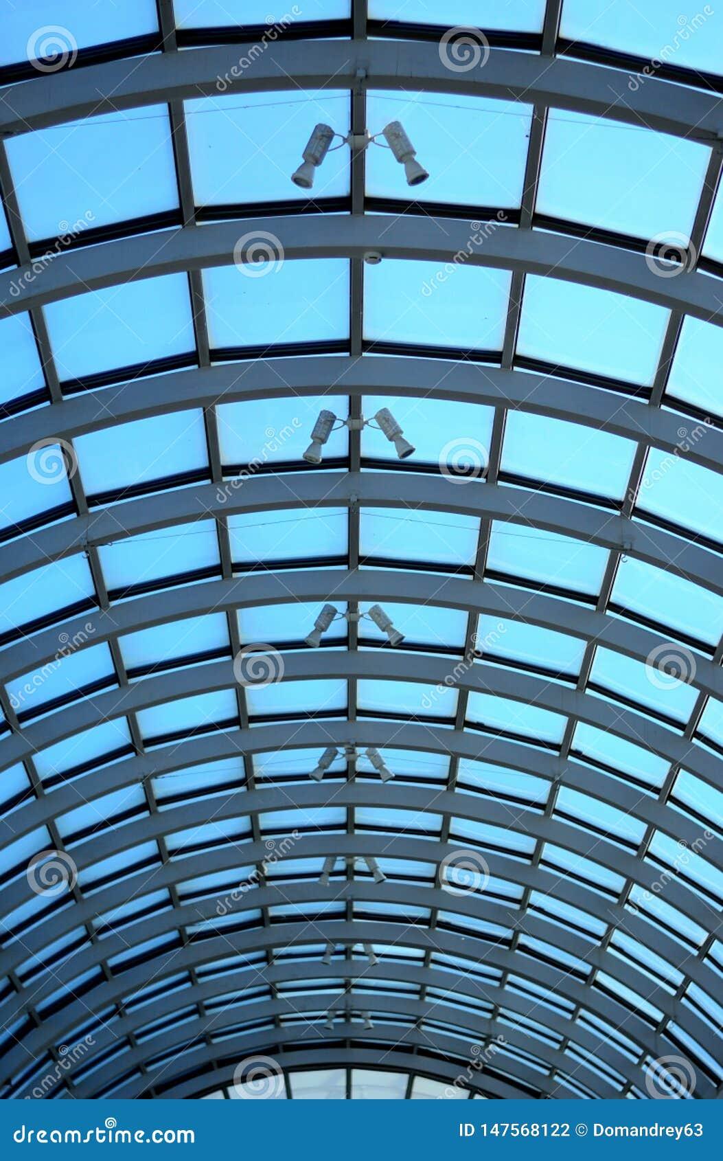 Het dakdakraam van het perspectiefglas van lang de bouw Metaalglasdak van de lange bouw