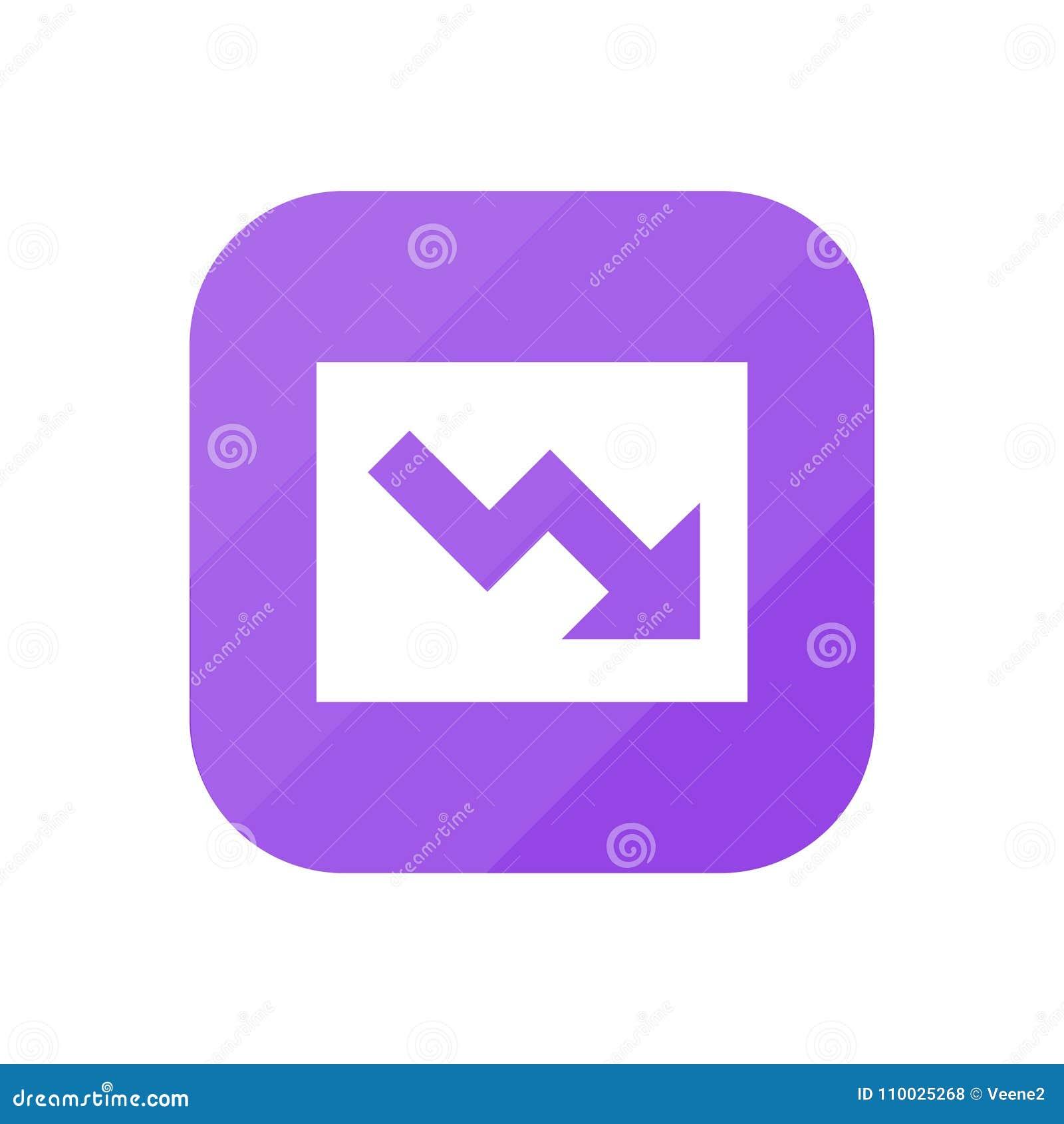 Het dalen - App Pictogram