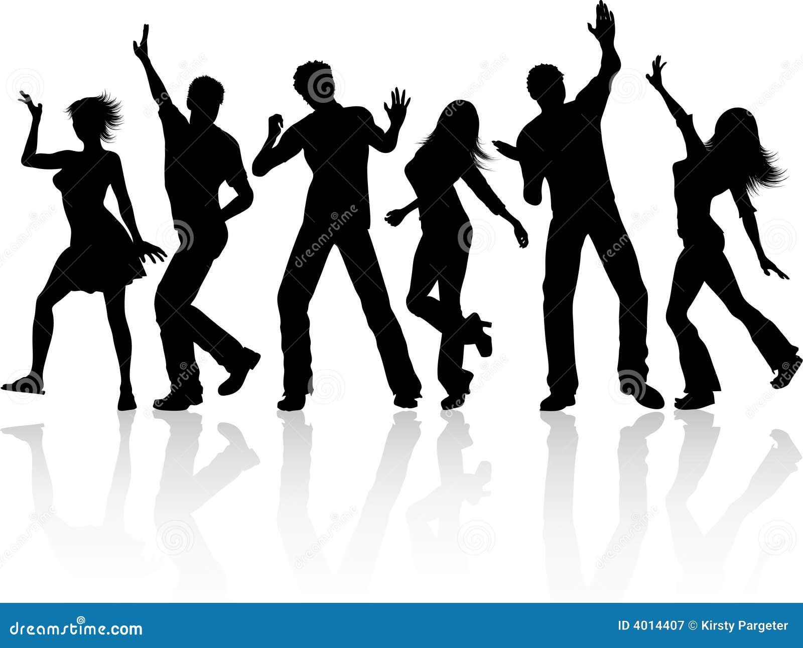 Het Dansen Van Mensen Vector Illustratie Illustratie Bestaande Uit