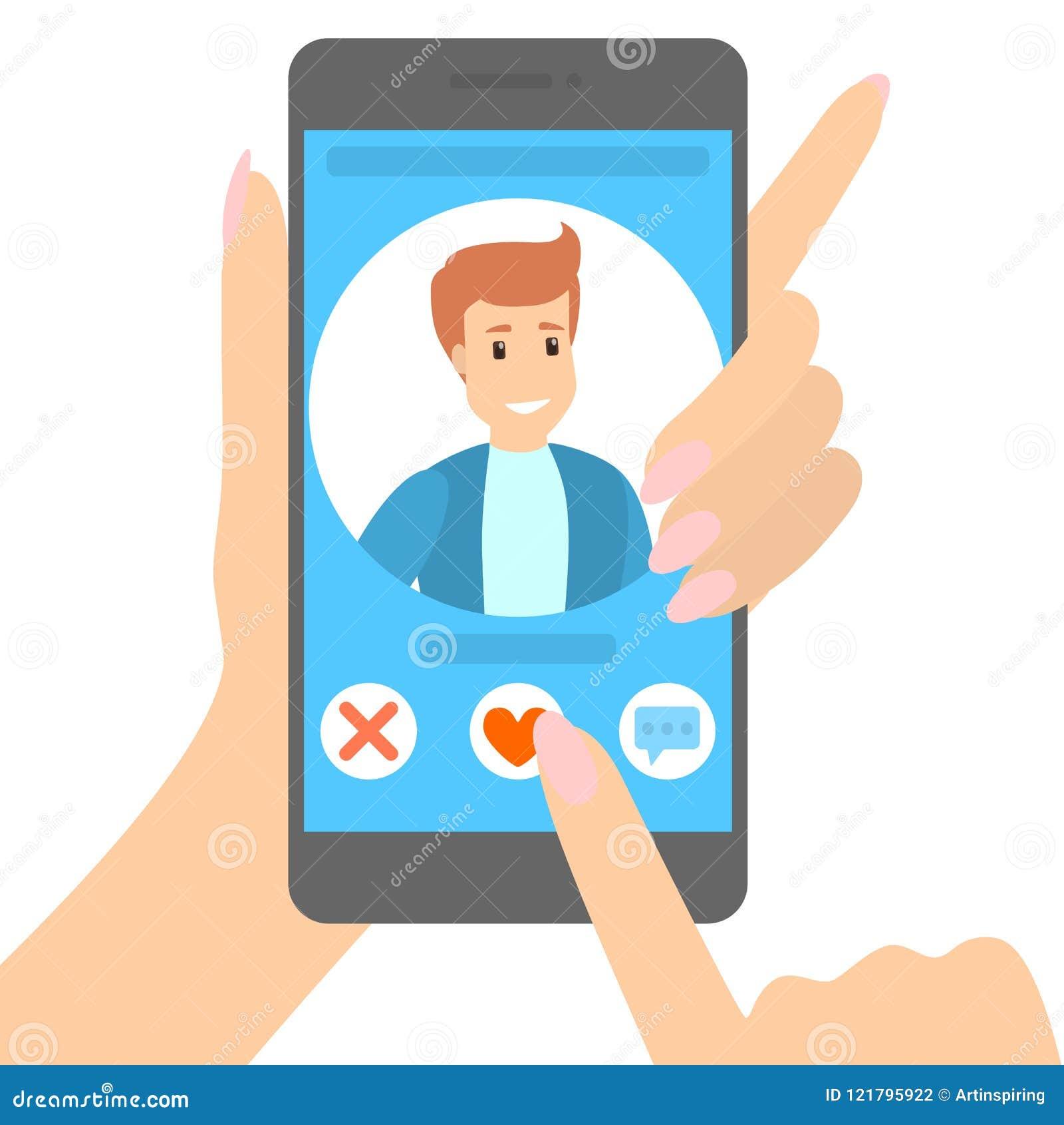 Het dateren van app op de telefoon
