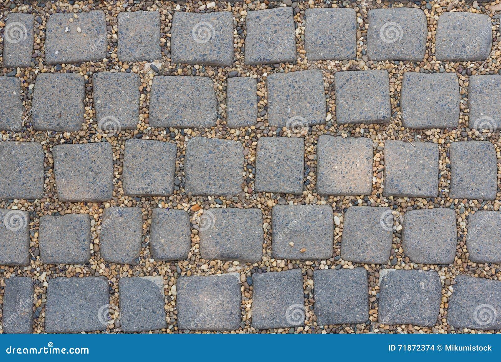Het de bloksteen en zand zijn vloer stock foto afbeelding