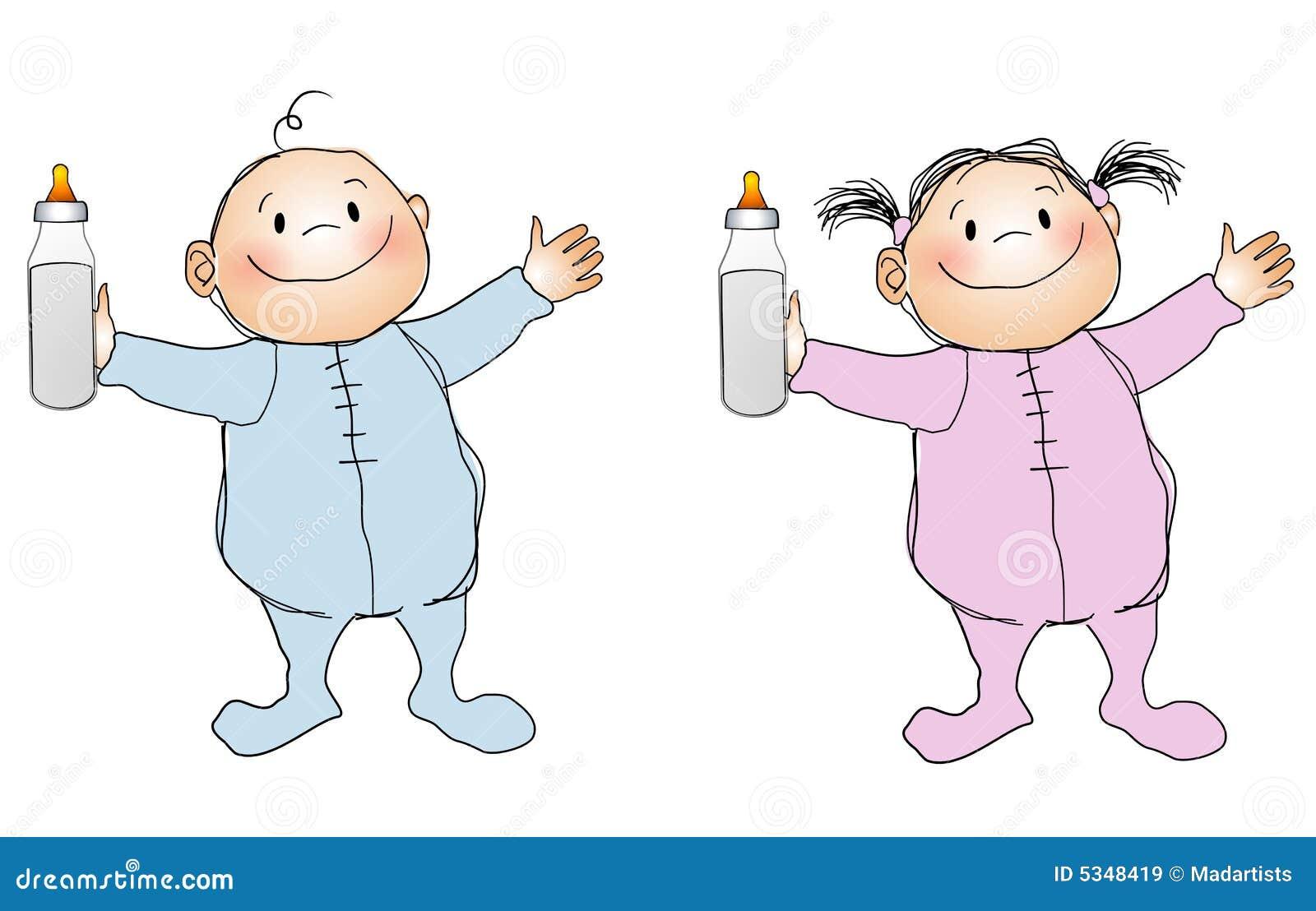 Het de glimlachende jongen en meisje van babys royalty vrije stock afbeeldingen afbeelding - Baby boy versiering van de zaal ...