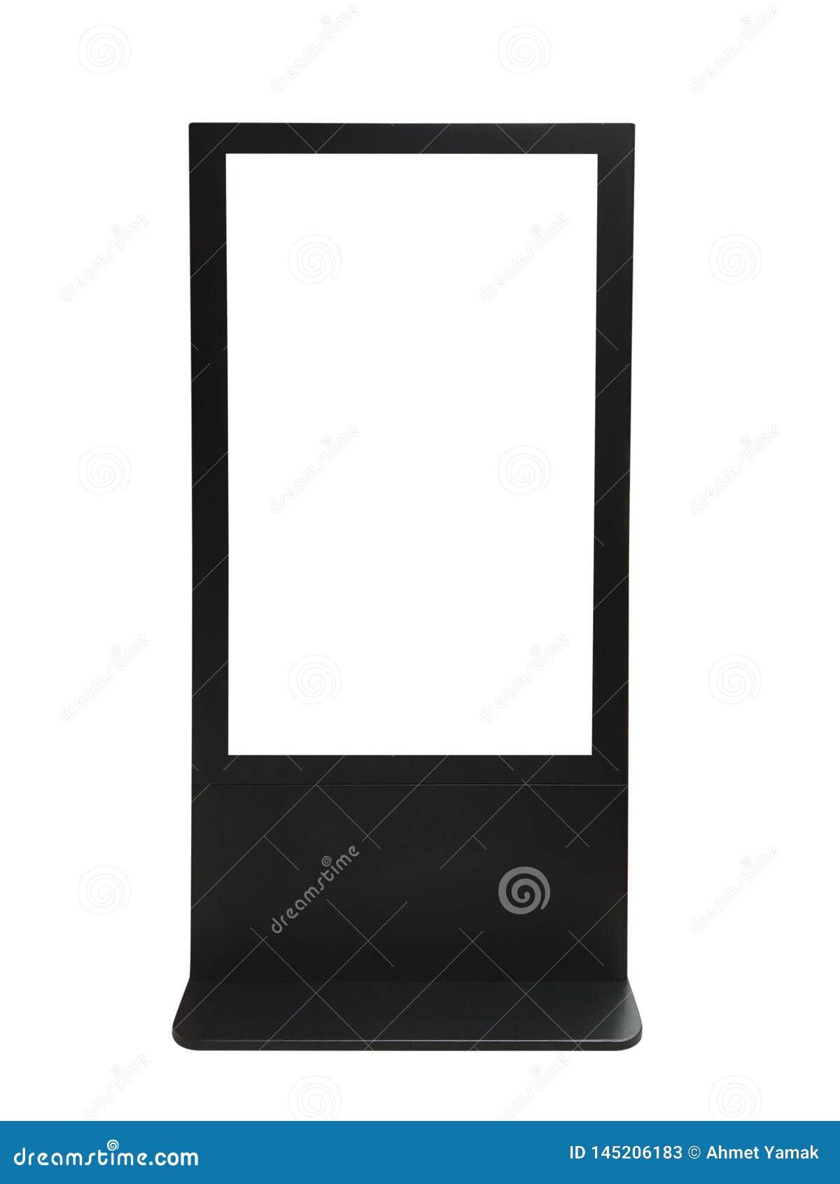 Het de informatiekiosk en scherm hebben het knippen weg op witte achtergrond