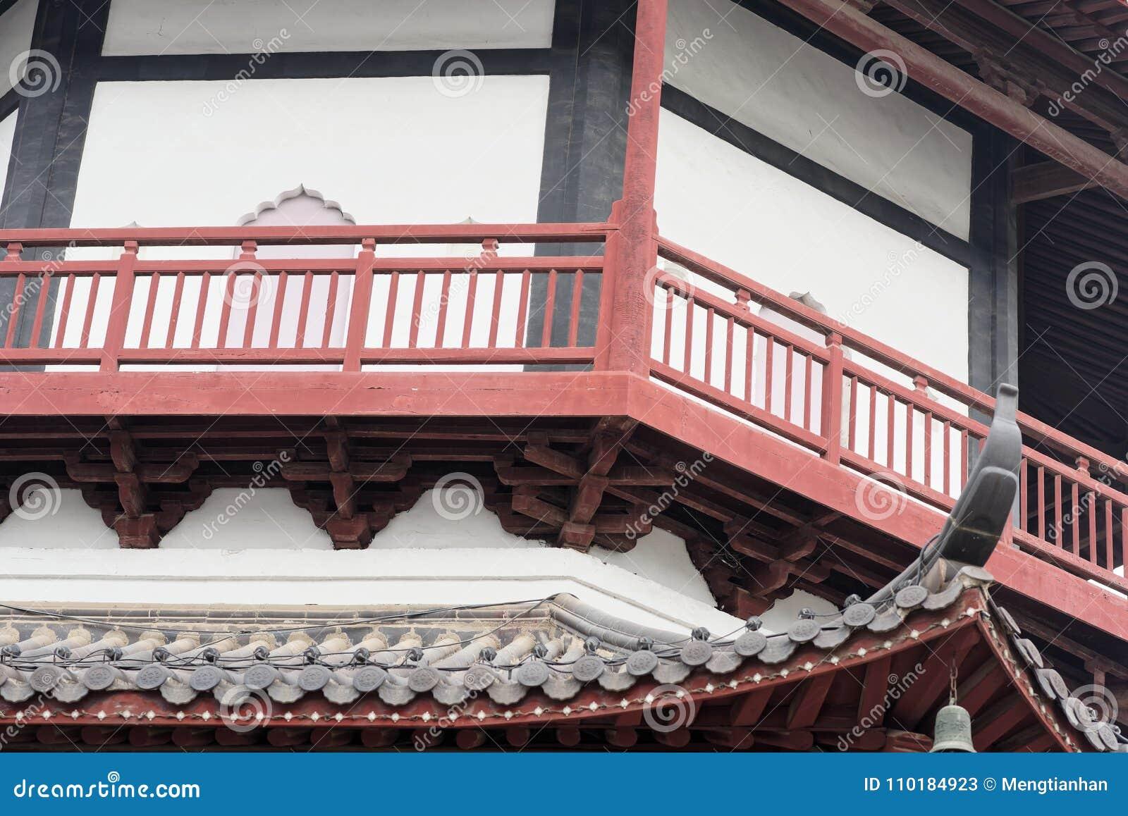 Het de stijlpaviljoen van de baksteentoren - de Chinese typische Shengjin toren van Jiangnan