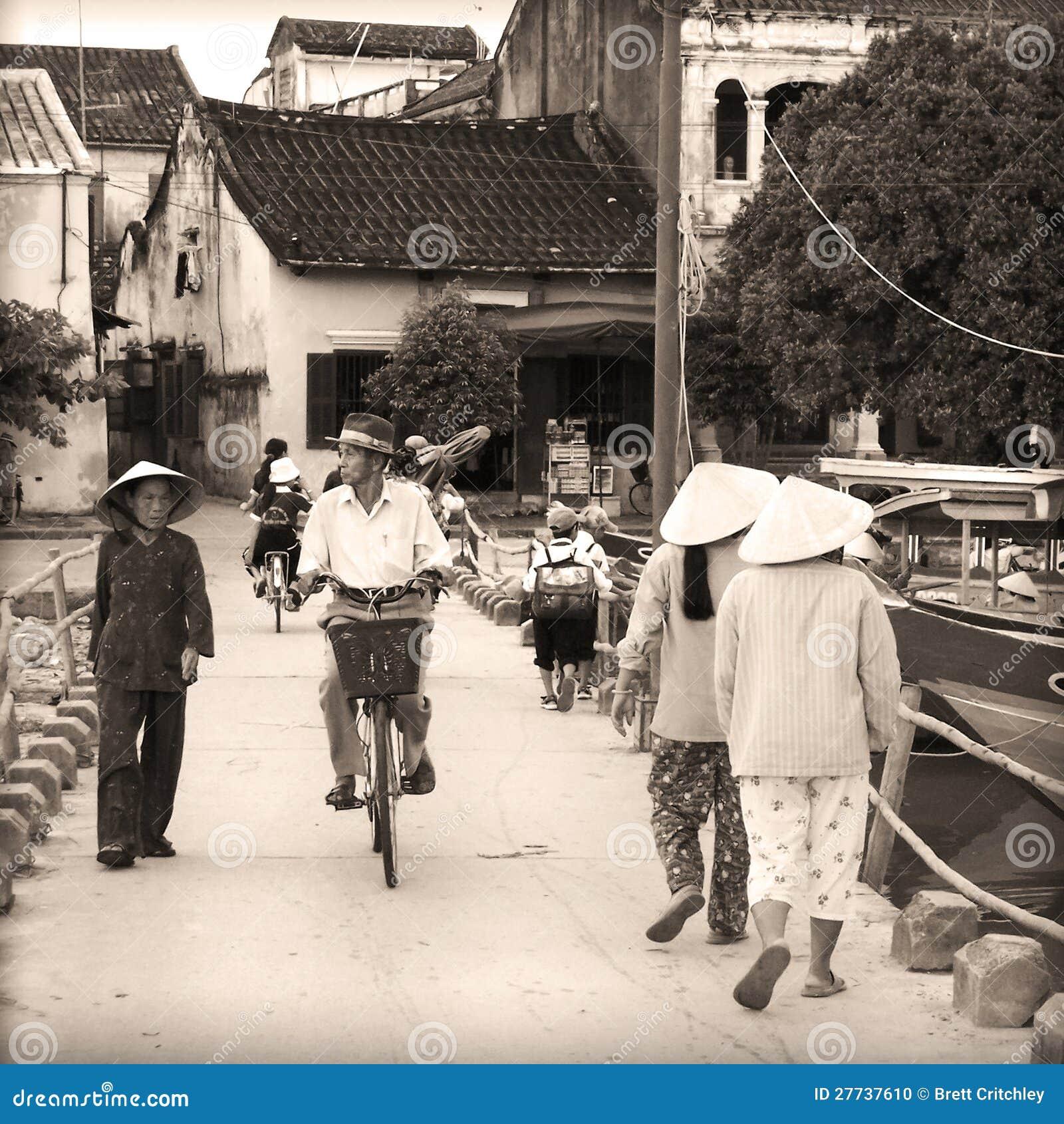 Het de straatleven Hanoi van Vietnam