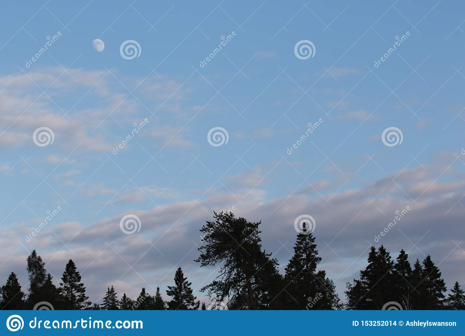 Het in de was zetten Gibbous Maanfase in Avond terwijl de Zon nog uit is
