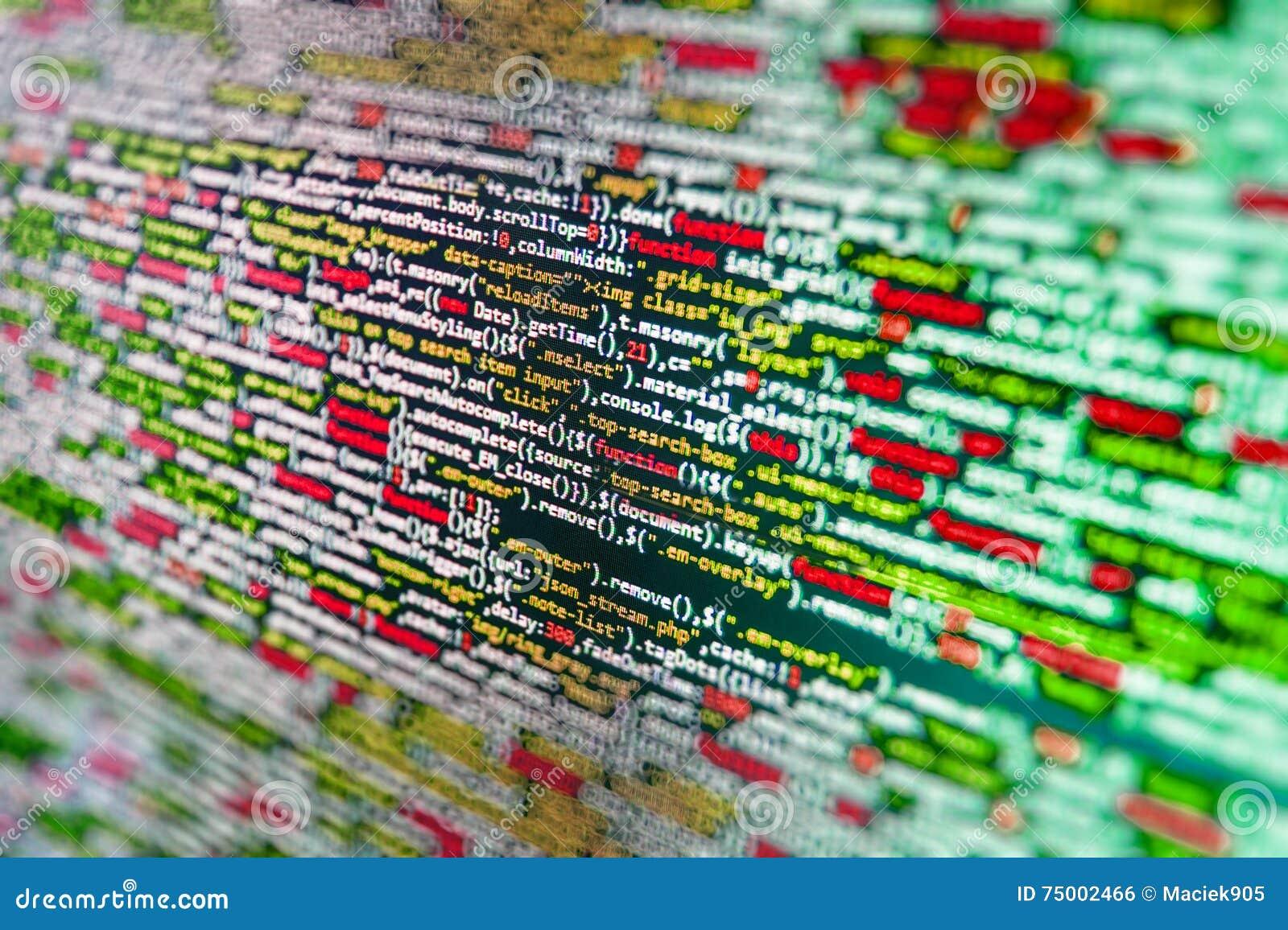 Het de werkruimtescherm van de softwareontwikkelaar