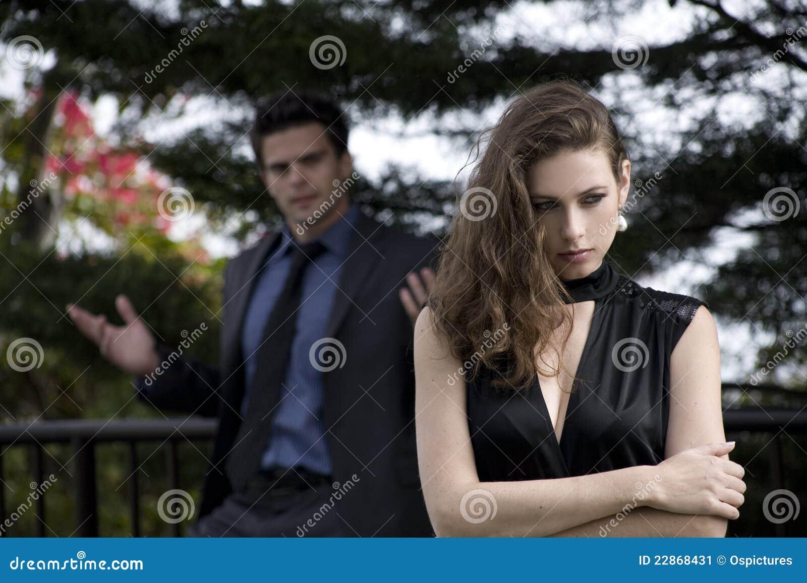 Het debatteren van het paar