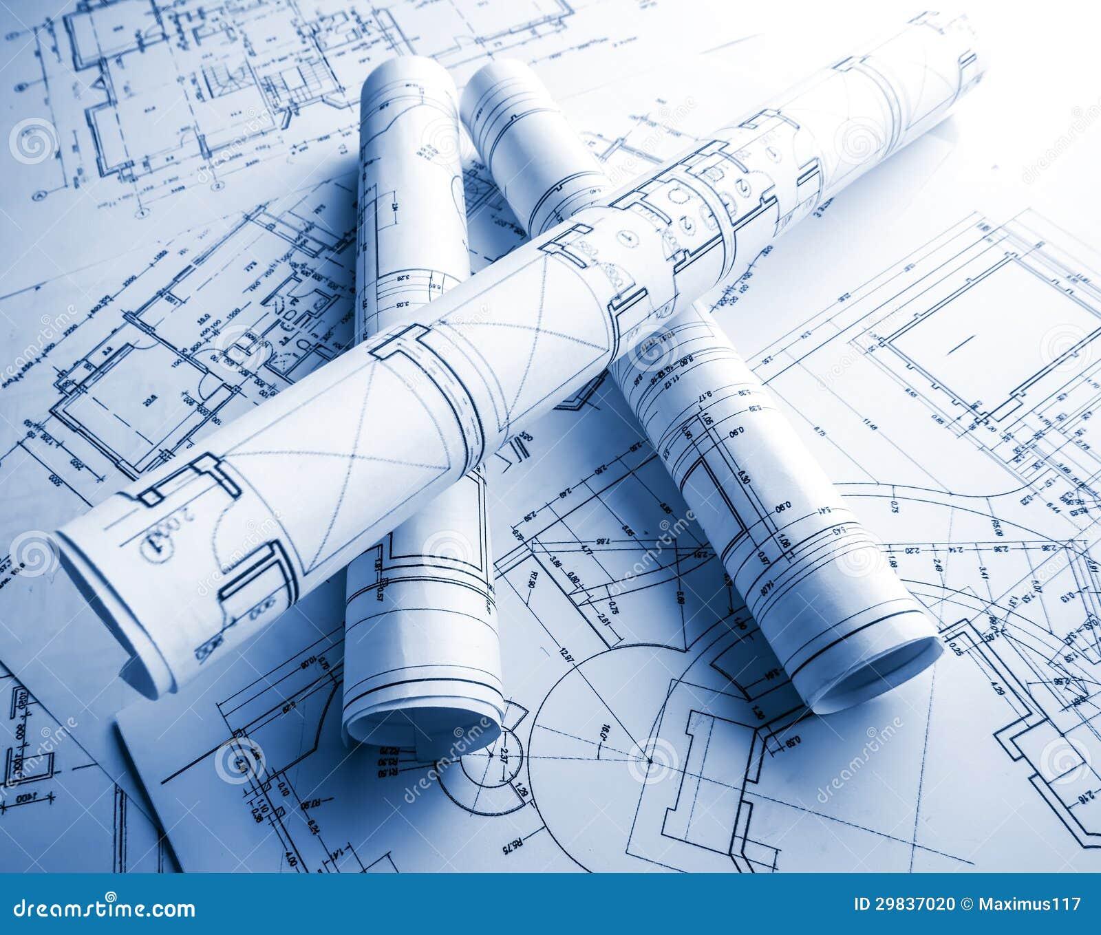 Een deel van architecturaal project