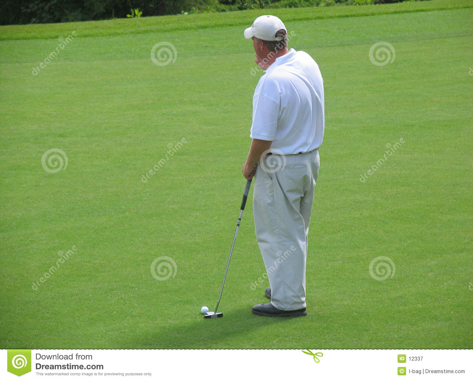 Het denken van de golfspeler