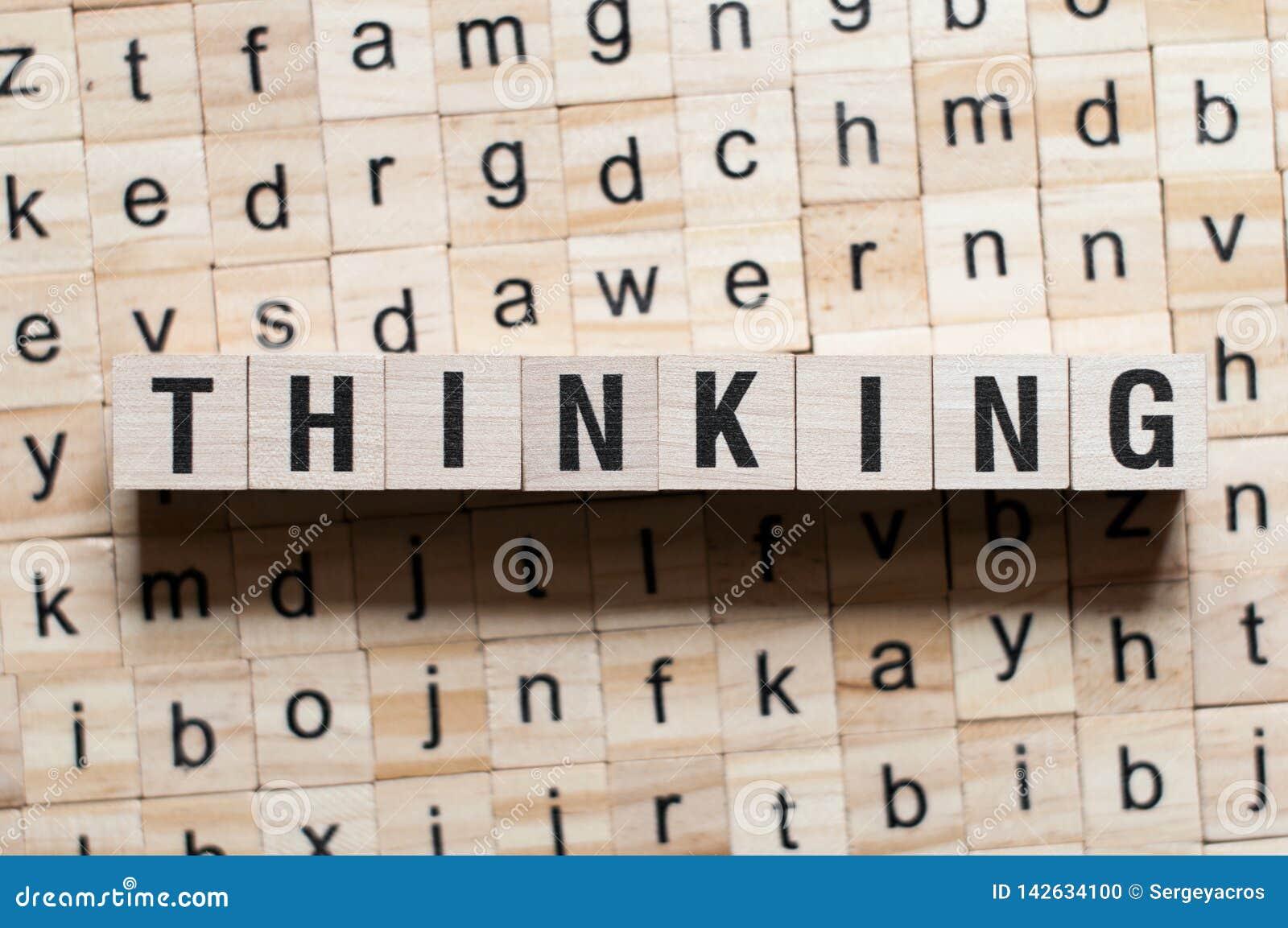 Het denken woordconcept