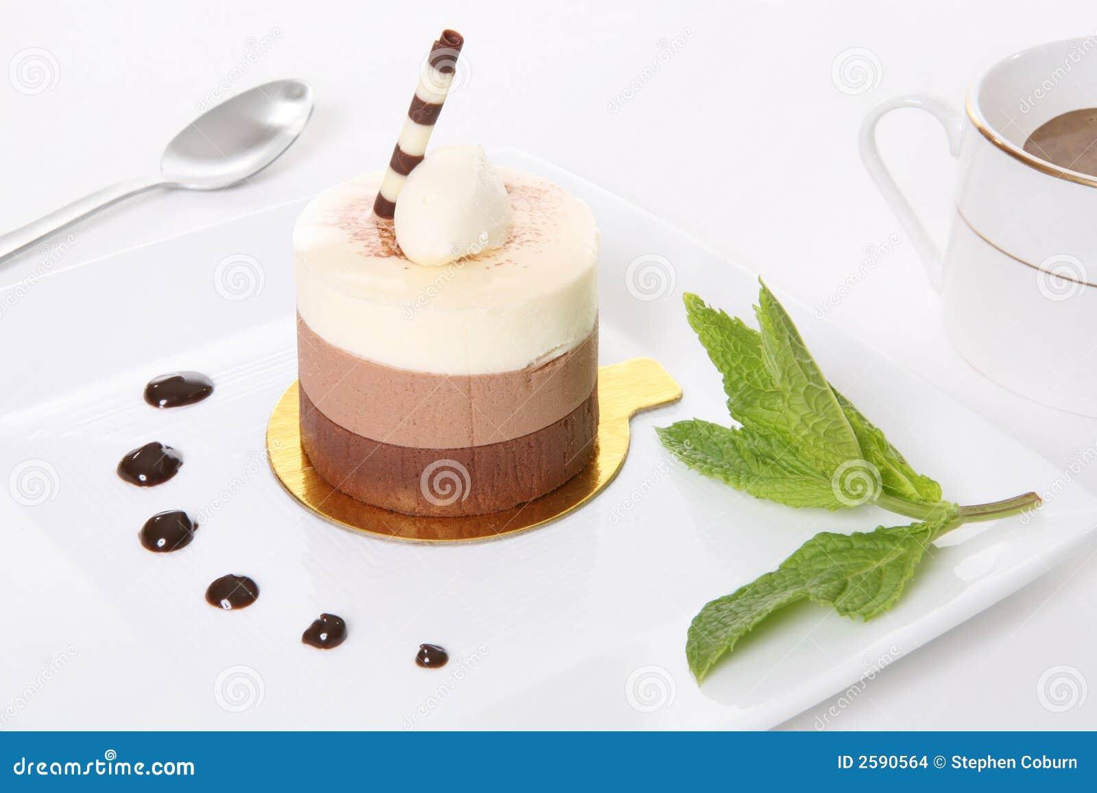 Het Dessert van de Cake van Mocha