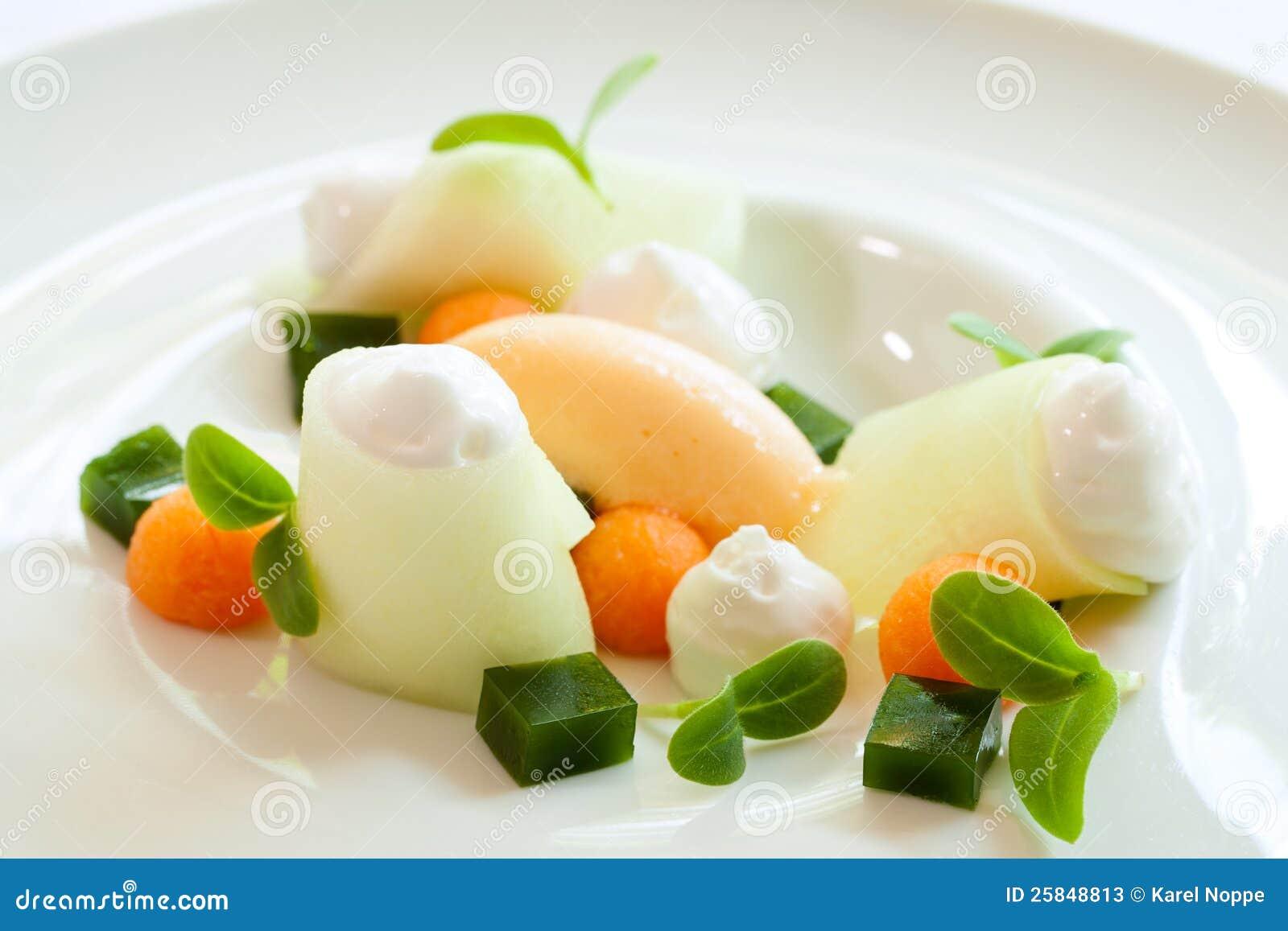 dessert met meloen