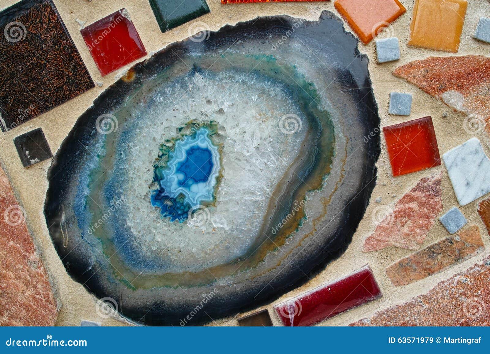 Het detail van de mozaïekmuur