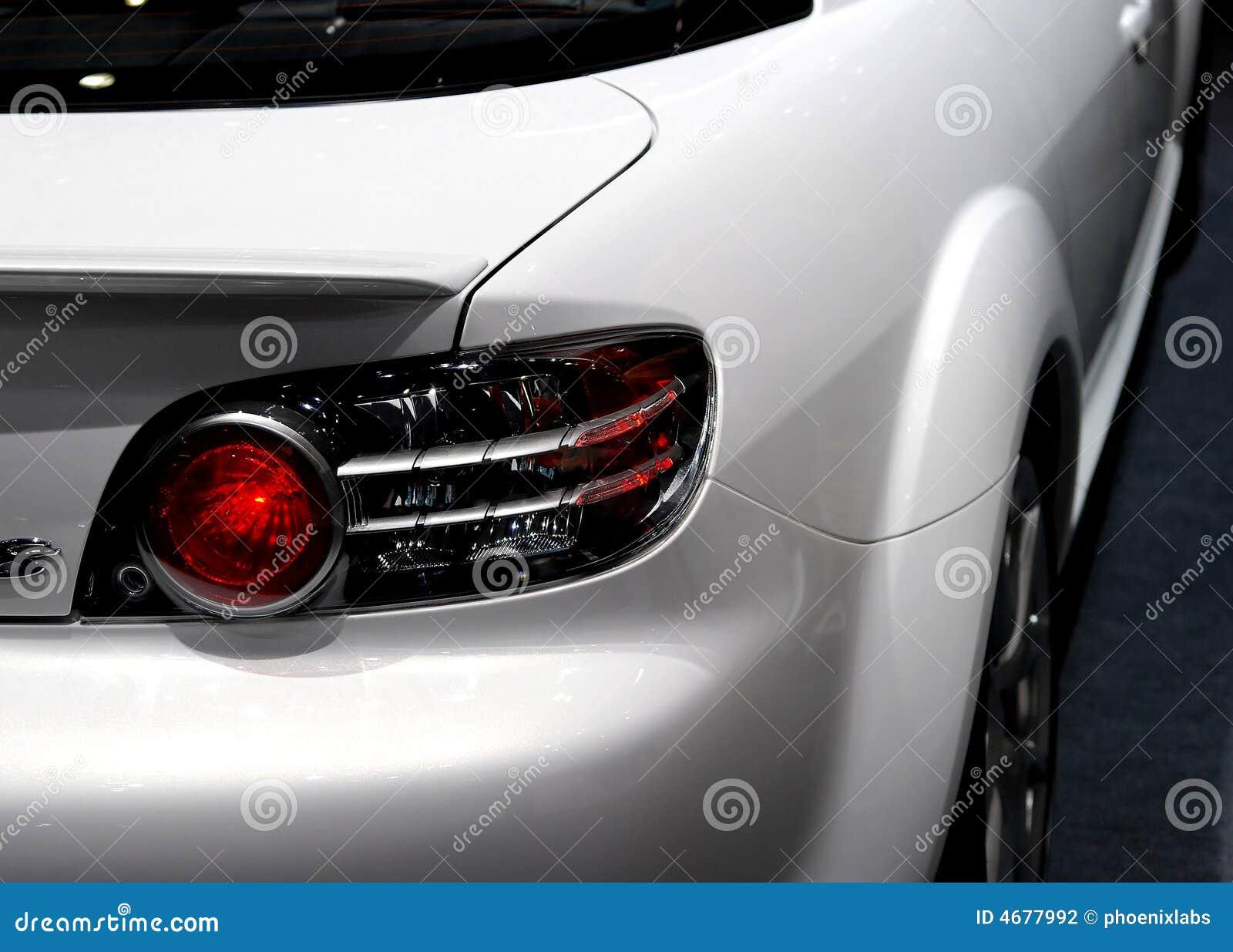 Het detail van de sportwagen