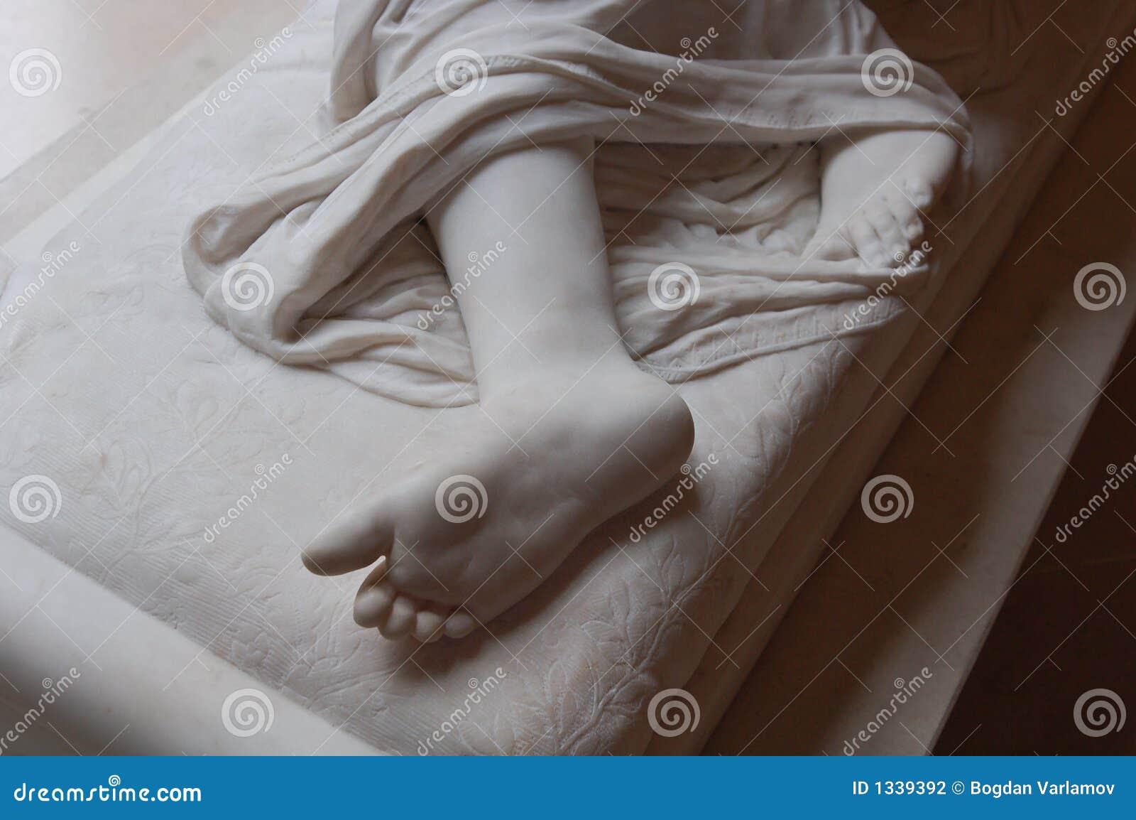 Het Detail van de voet van Standbeeld