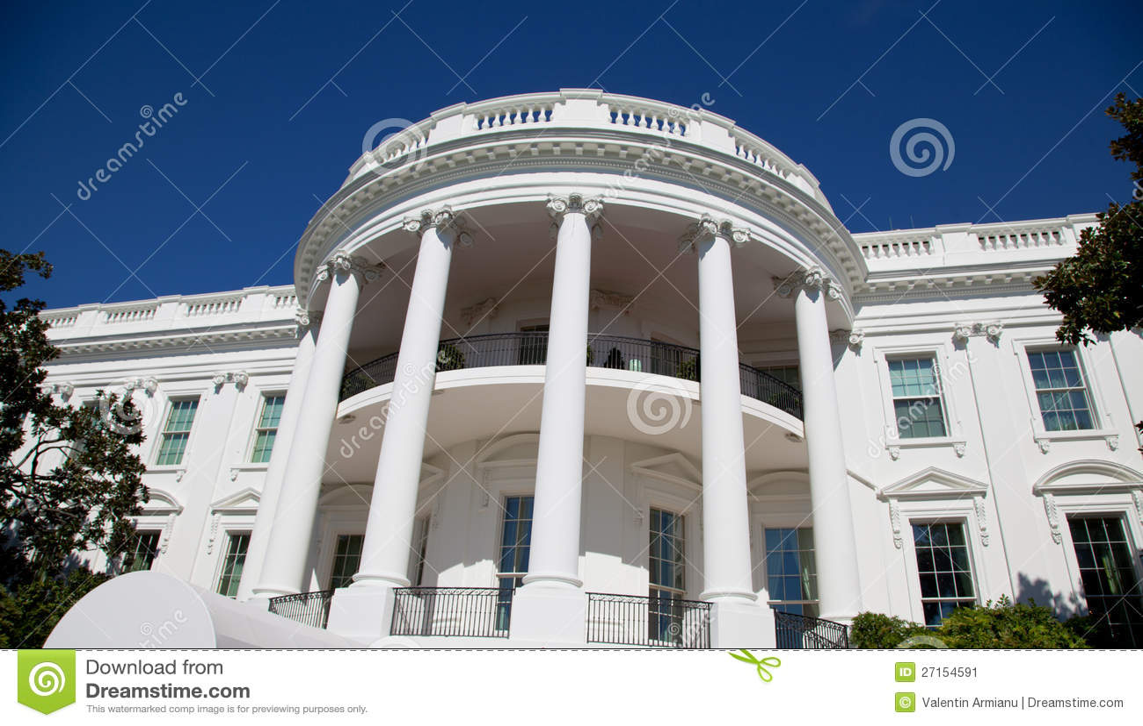 Het detail van het Witte Huis