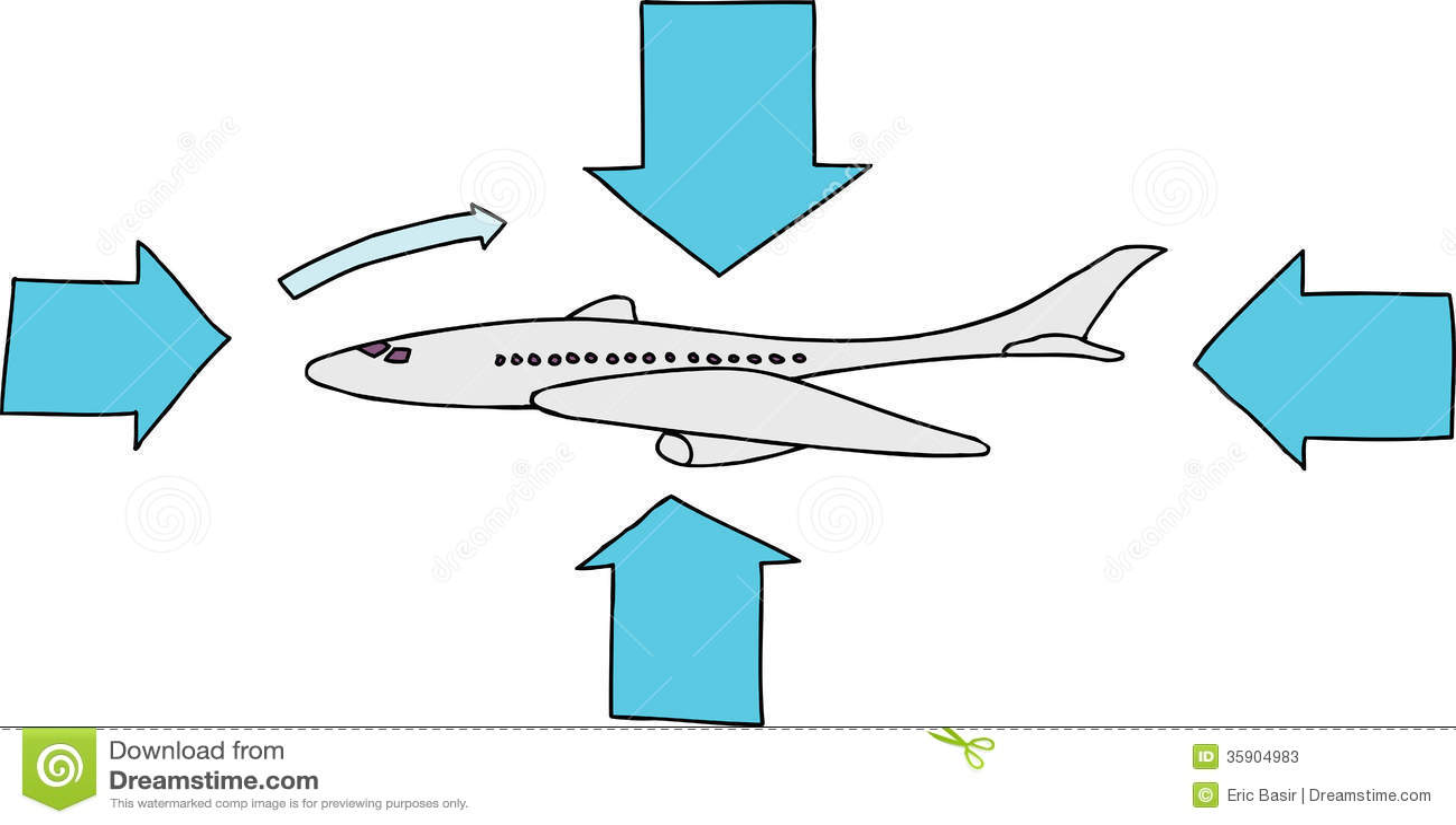 Het Diagram van het draagvlakvliegtuig