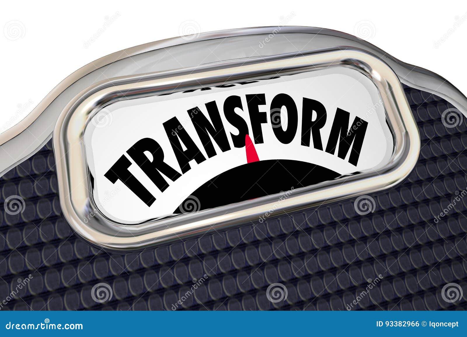 Het Dieet van de transformatieschaal verliest Gewicht verbetert Gezondheidsovergang
