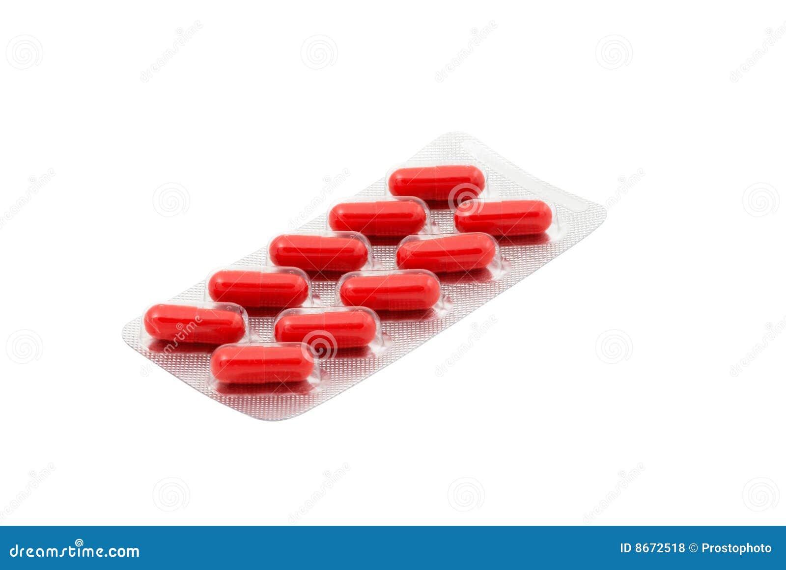 Het dieetsupplement van capsules in blaarpak