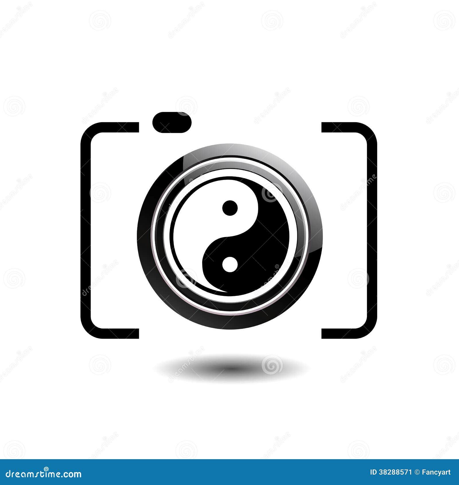 Het digitale embleem van de Camerafotografie