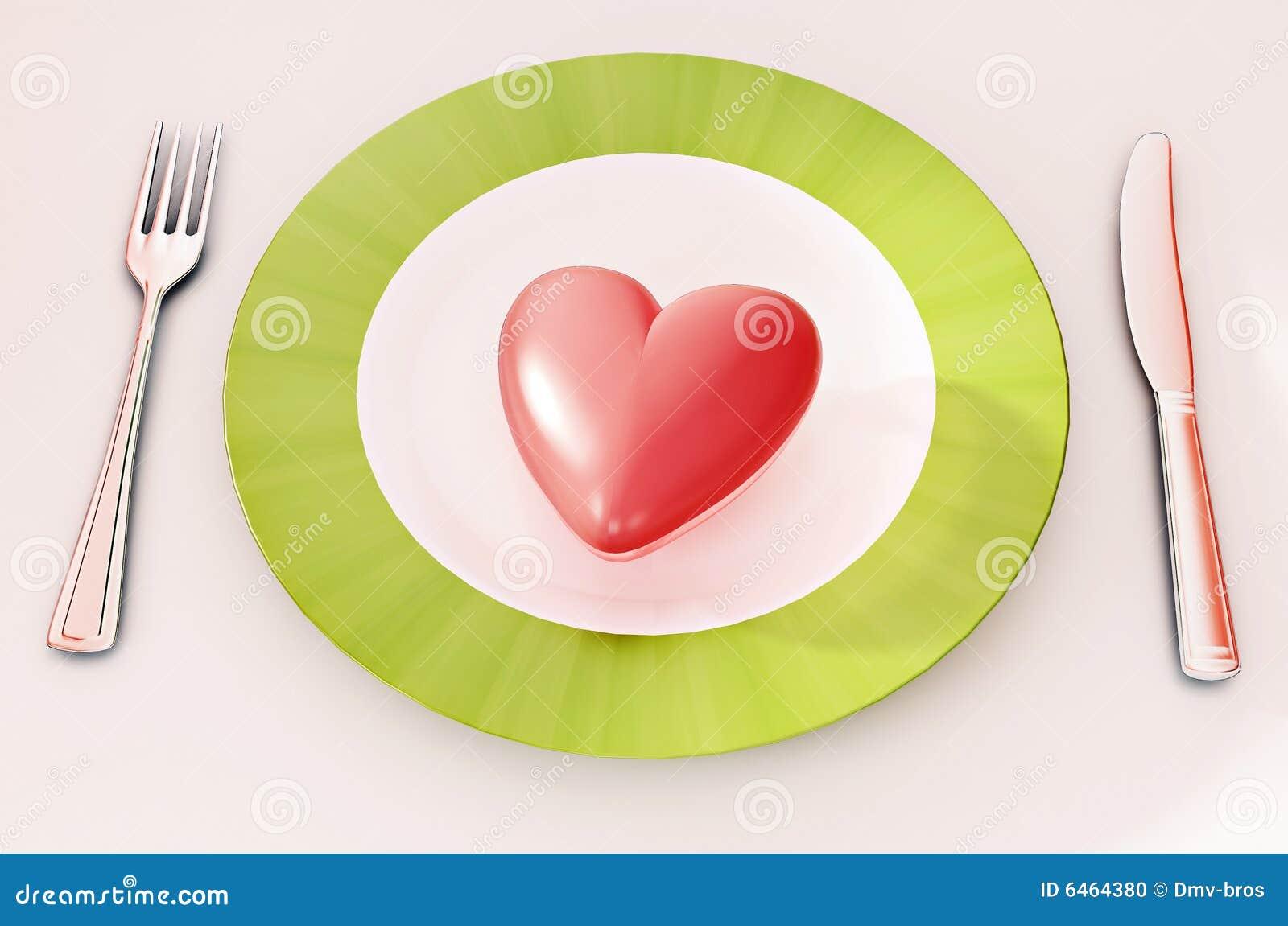 Het diner van het hart stock foto afbeelding 6464380 - Hoek maaltijd ...