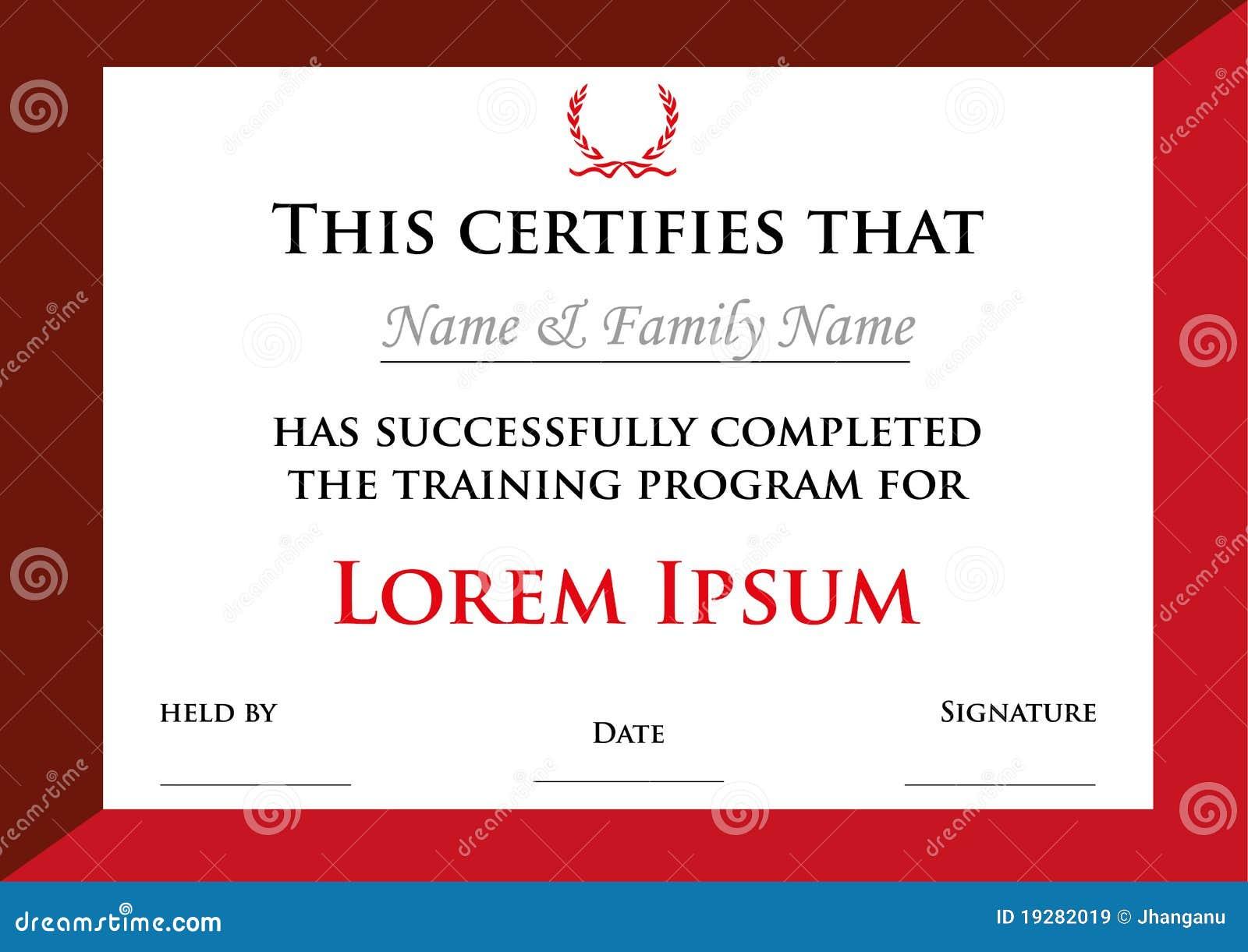 Het diploma of het certificaat van de toekenning met lauwerkransen royalty vrije stock - Geloofsbrieven ontwerp ...