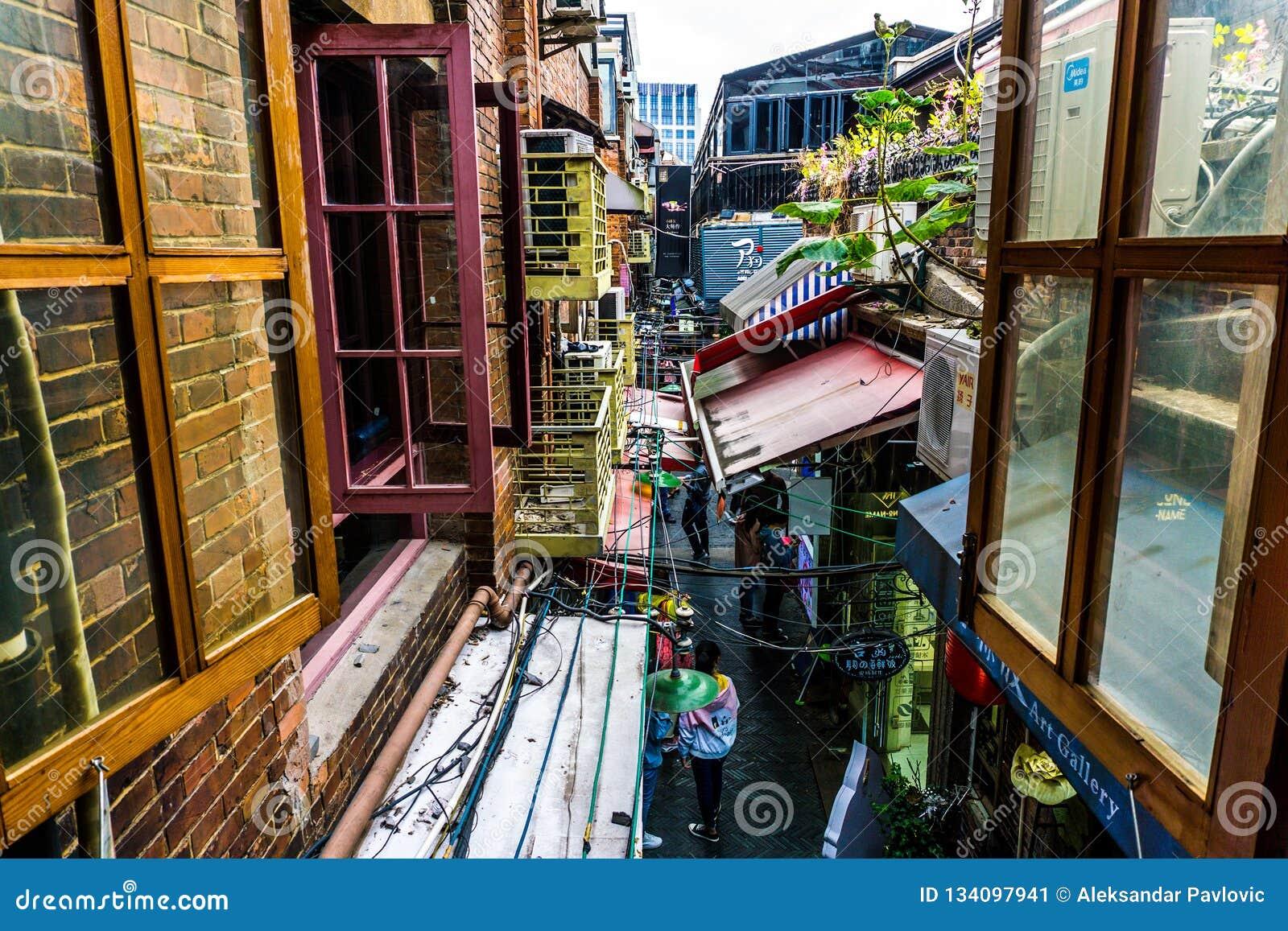 Het District van Shanghai Tianzifang