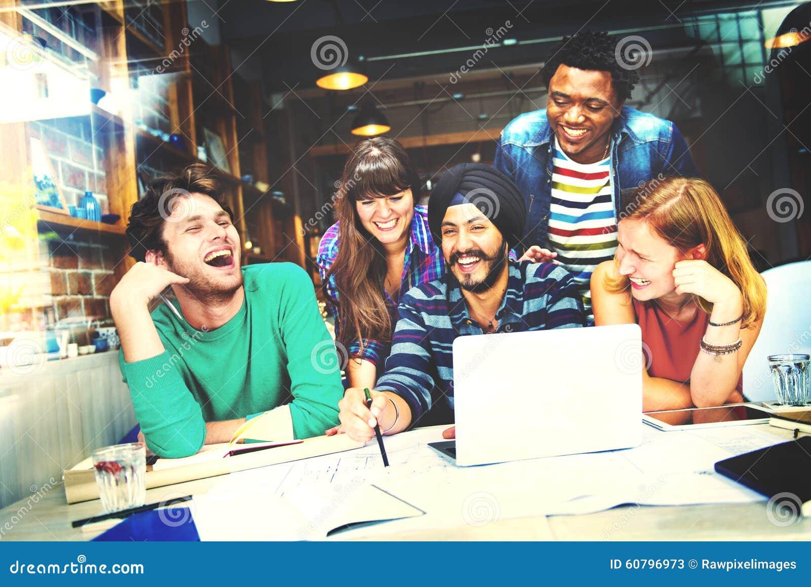 Het diverse Concept van Architectenpeople group working