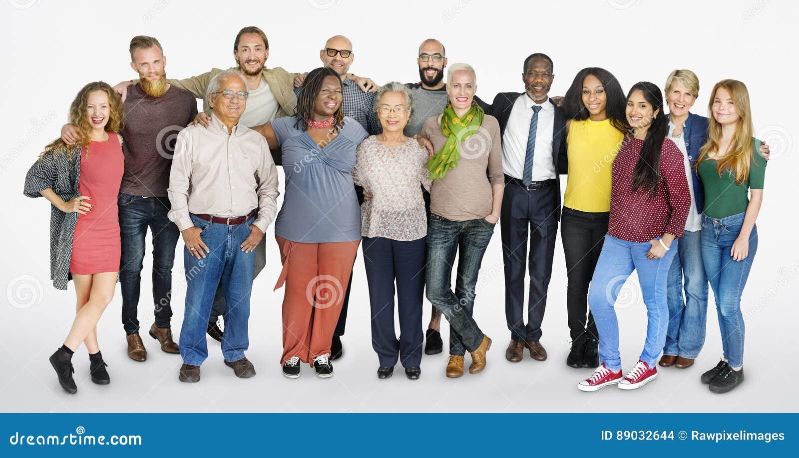 Het diverse Concept van de Groeps Mensen Communautaire Samenhorigheid